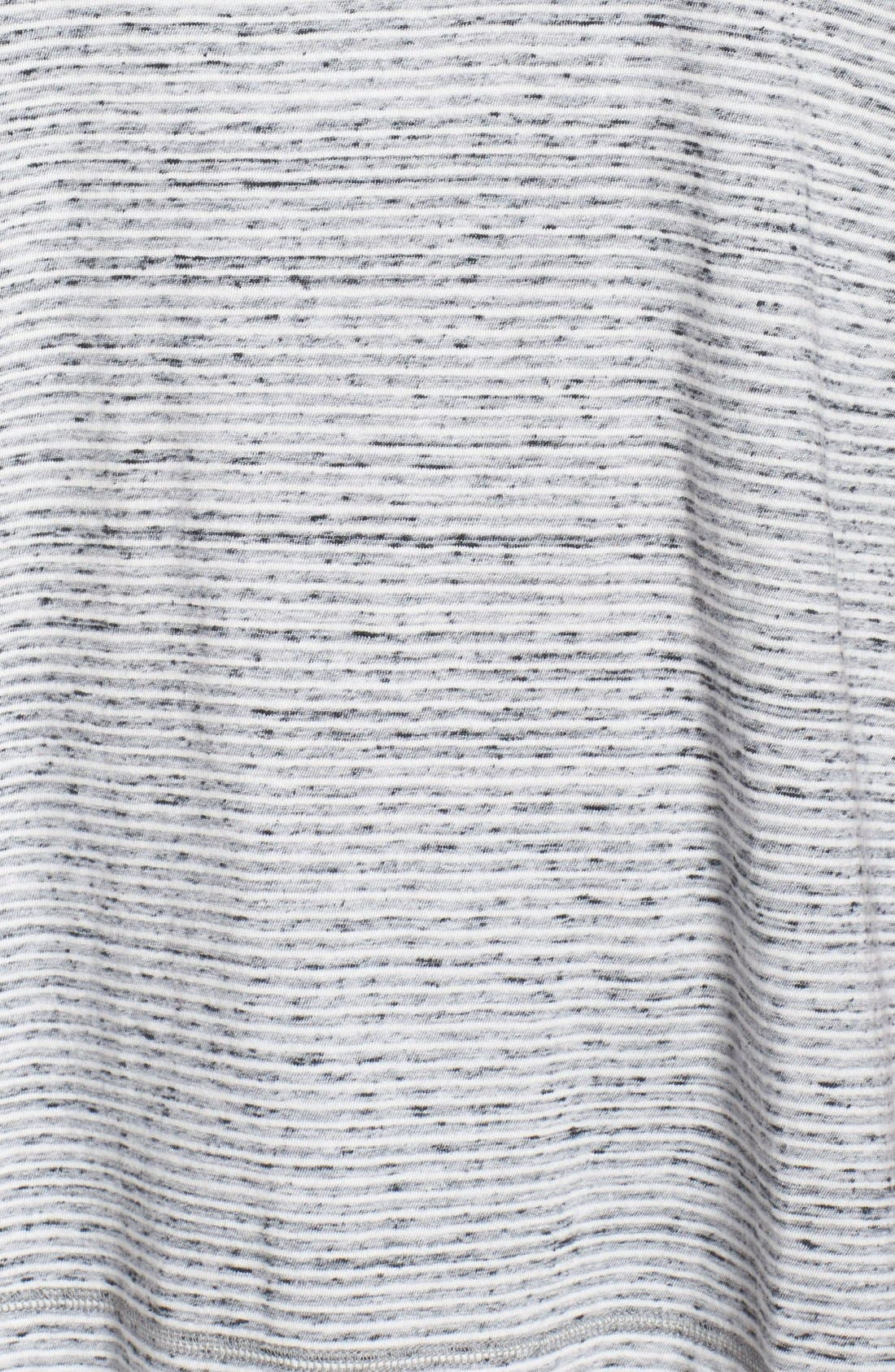 Stripe Short Sleeve Tee,                             Alternate thumbnail 5, color,                             Ivory- Black Pattern