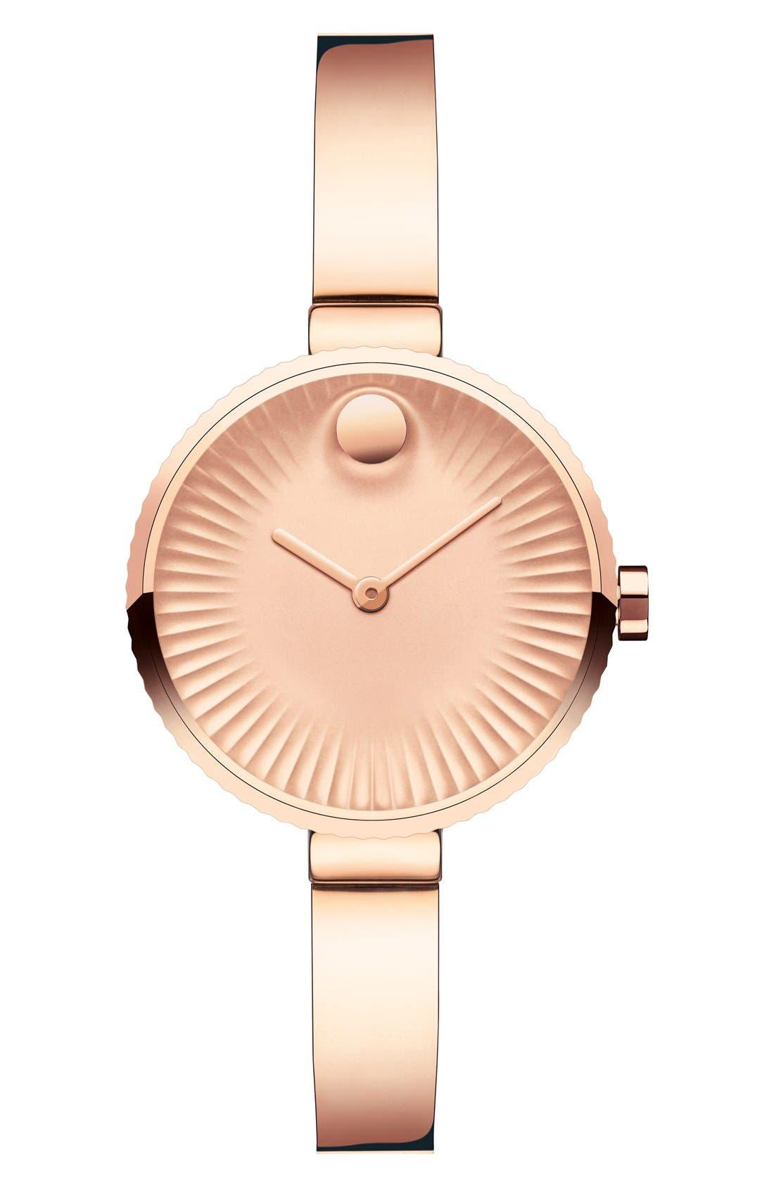 'Edge' Bracelet Watch, 28mm,                         Main,                         color, Rose Gold