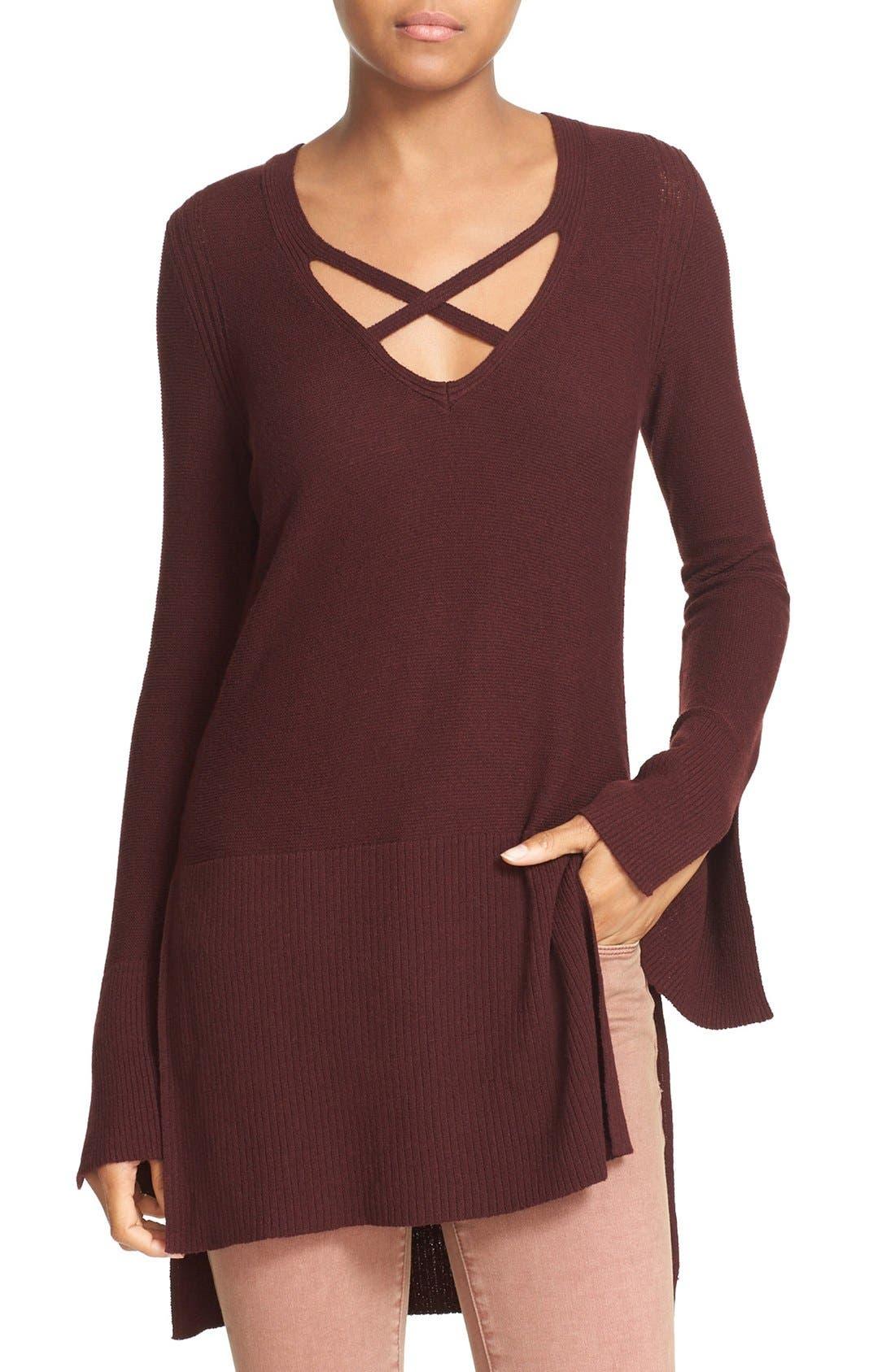 Alternate Image 1 Selected - Free People Crisscross Sweater