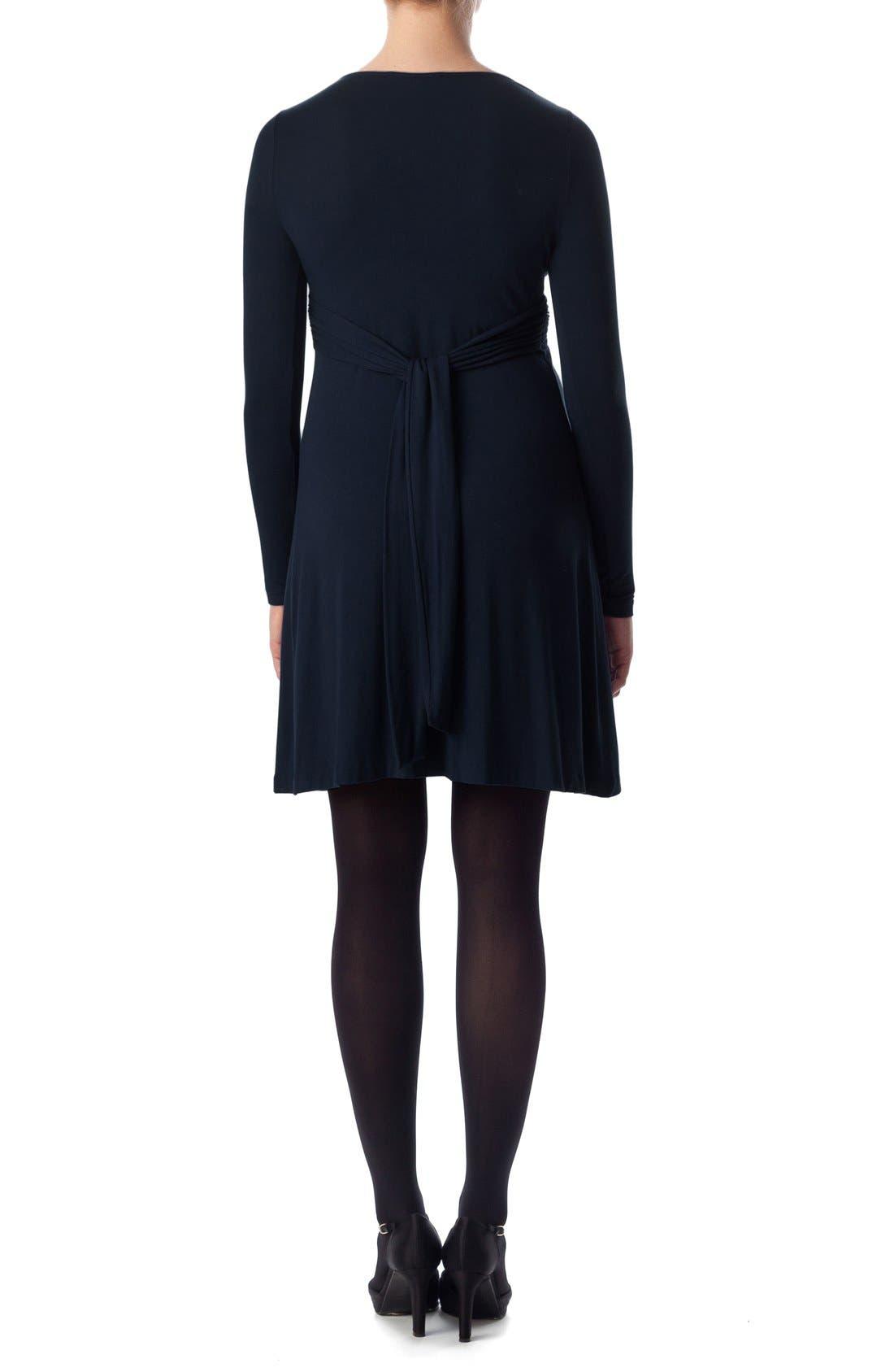 'Madonna' Twist Detail Jersey Maternity Dress,                             Alternate thumbnail 2, color,                             Dress Blues