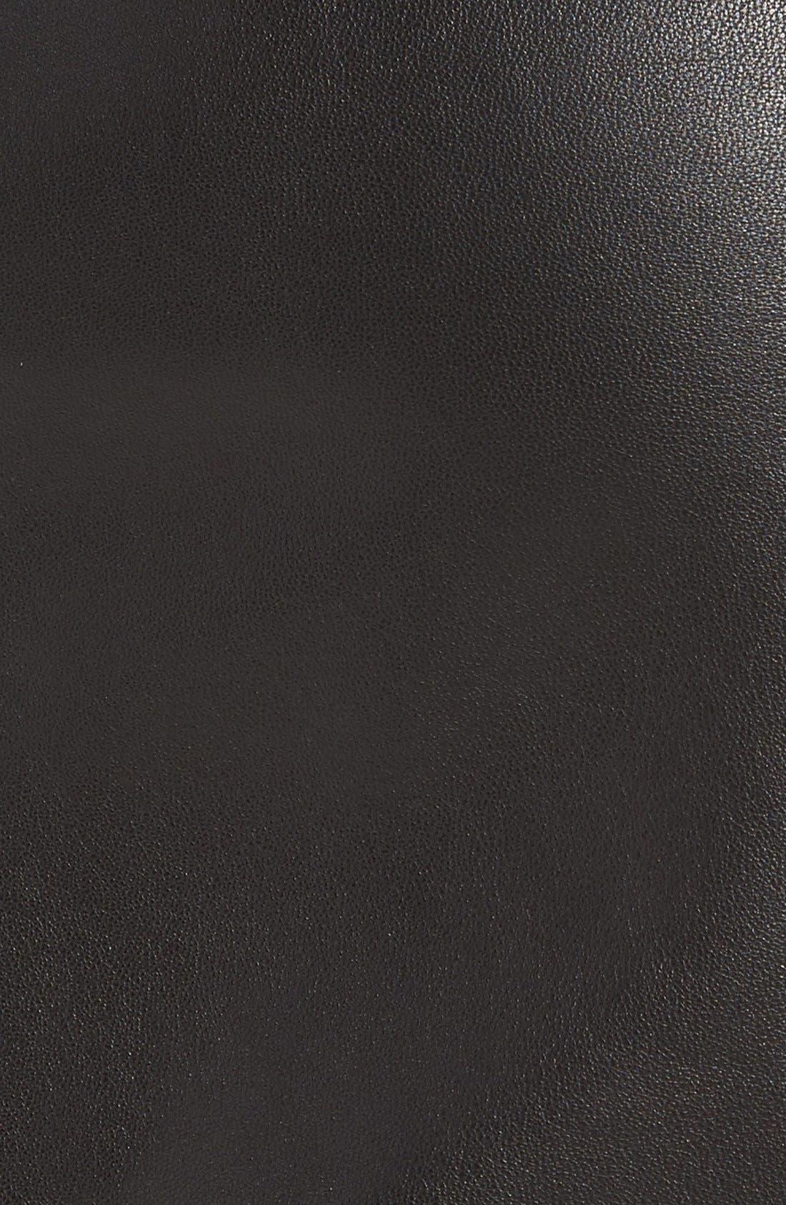 Alternate Image 4  - Leith Leather Miniskirt