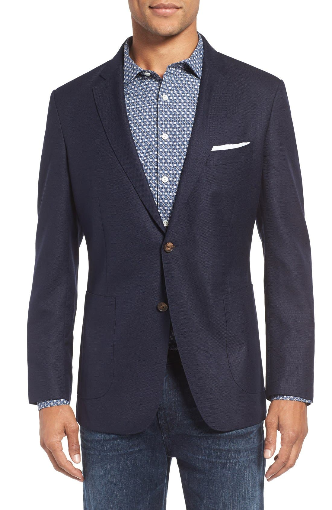 Elsthorpe Wool Blazer,                         Main,                         color, Ink