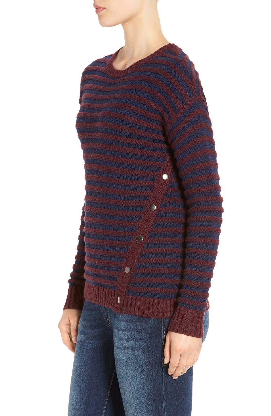 Alternate Image 3  - Caslon® Side Snap Sweater (Regular & Petite)