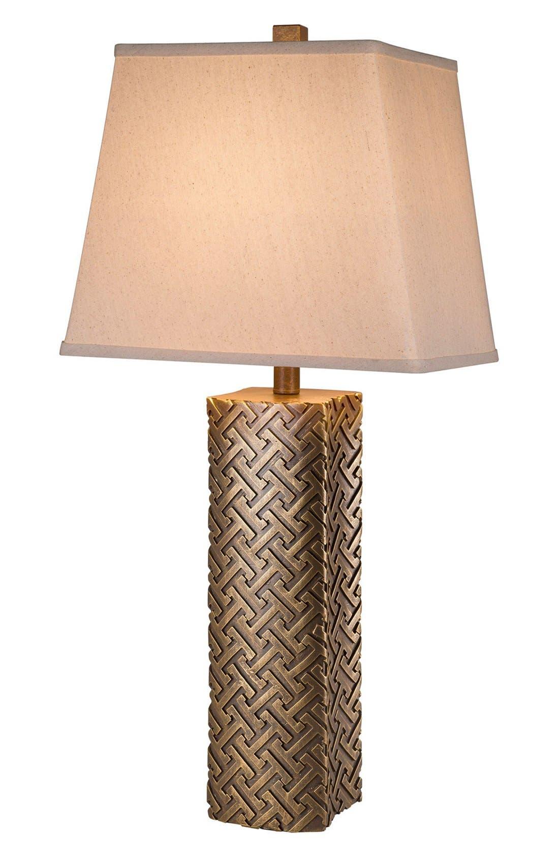 JAlexander Geometric Metallic Table Lamp,                         Main,                         color, Metallic Gold