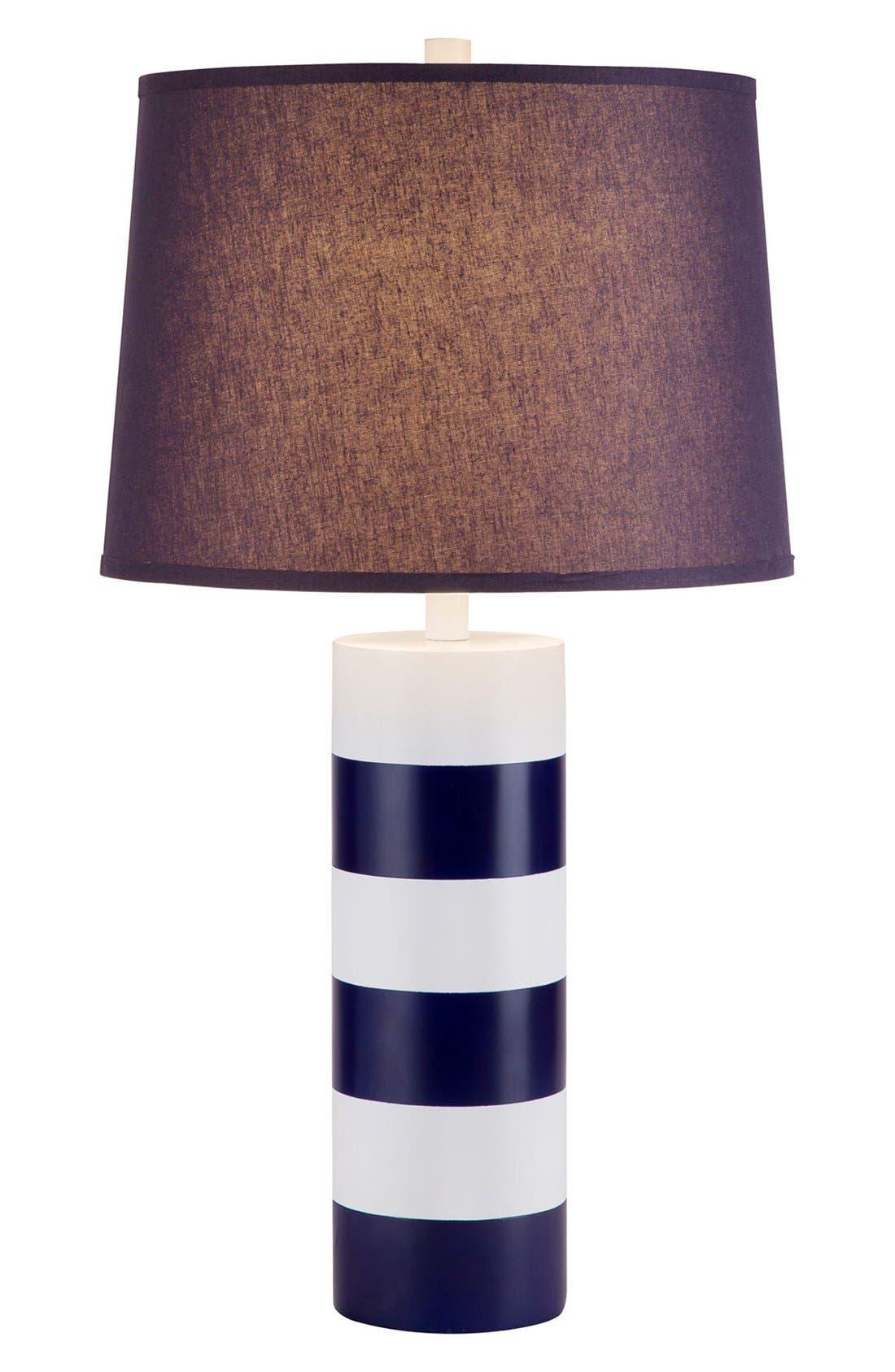 JAlexander Stripe Table Lamp,                             Main thumbnail 1, color,                             Blue/White