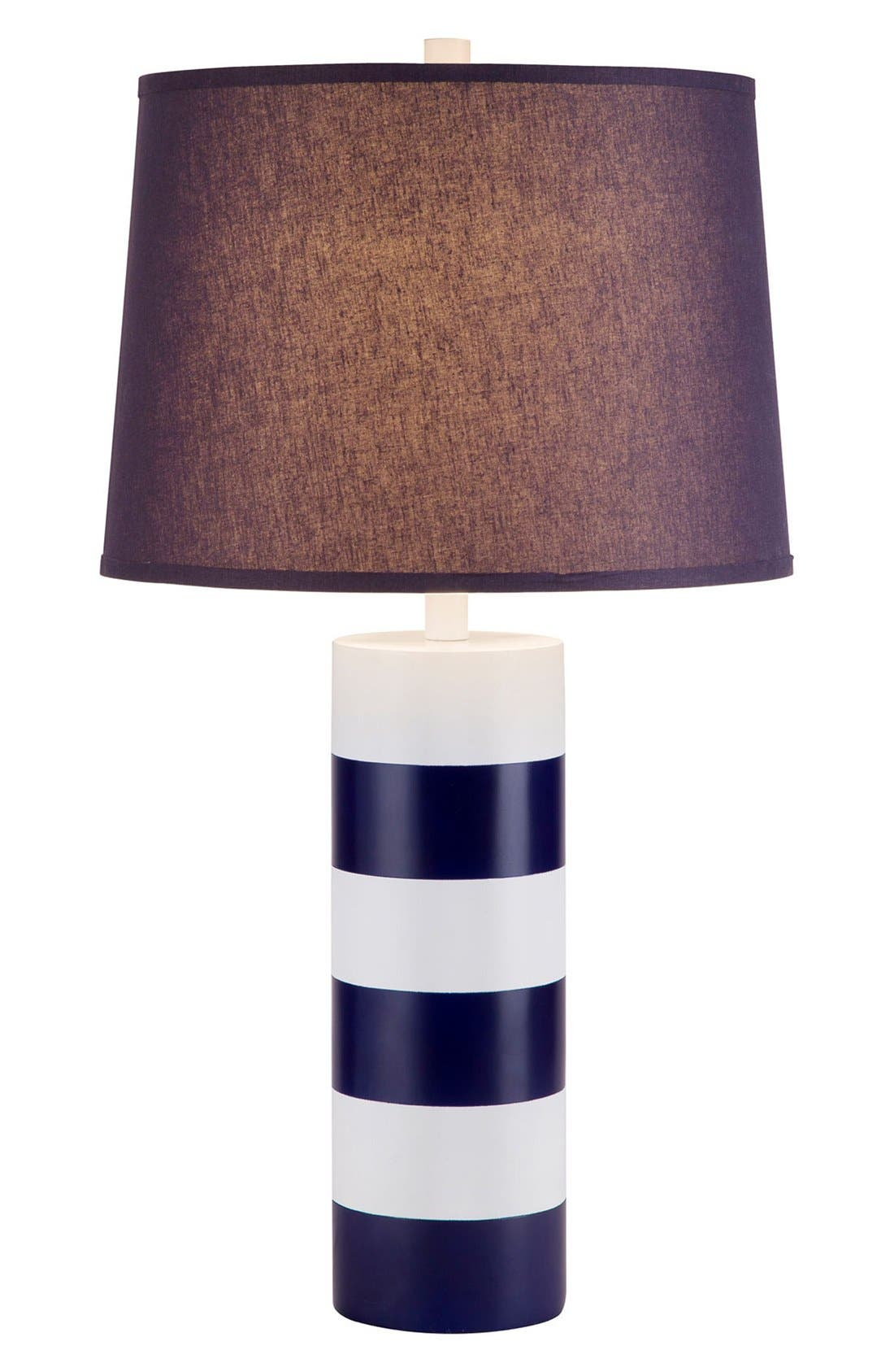 JAlexander Stripe Table Lamp,                         Main,                         color, Blue/White