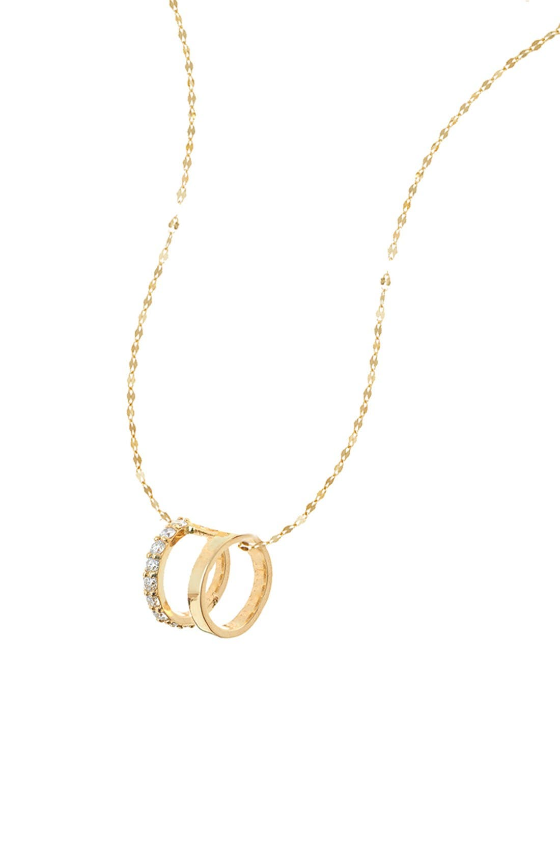 'Flawless Dare' Pendant Necklace,                         Main,                         color, Yellow Gold