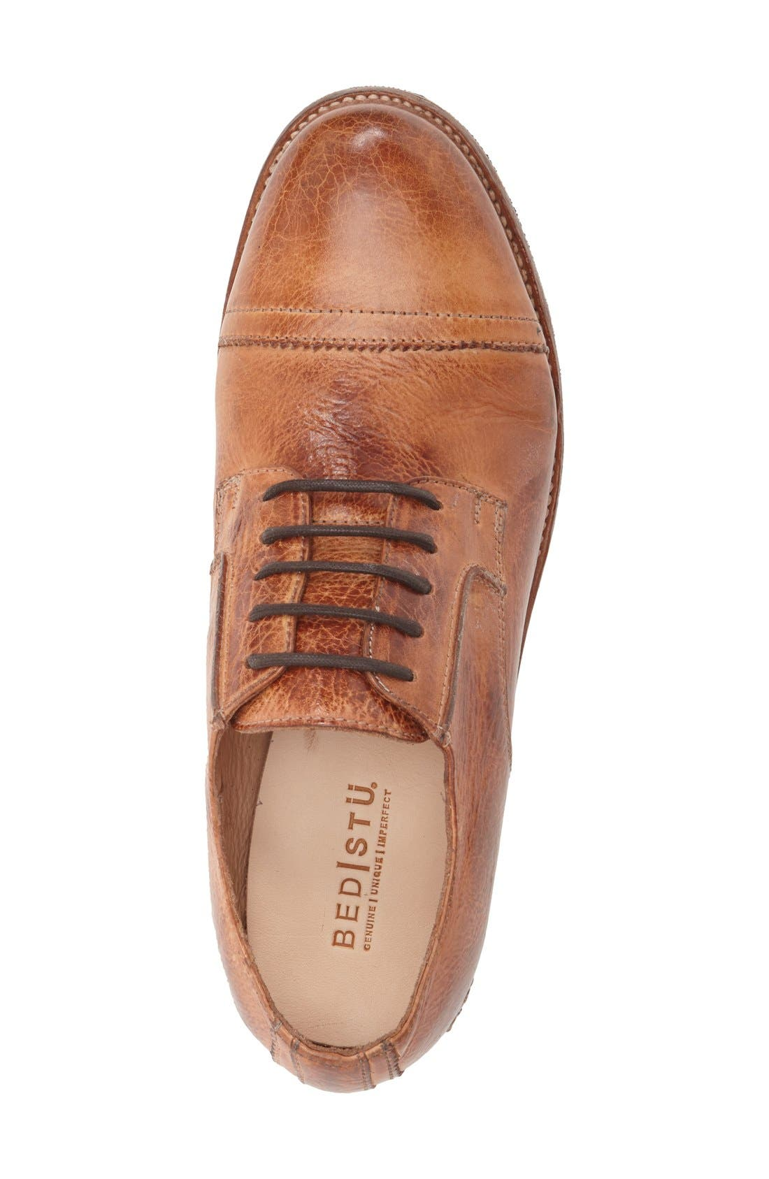 'Diorite' Cap Toe Derby,                             Alternate thumbnail 3, color,                             Cognac Leather