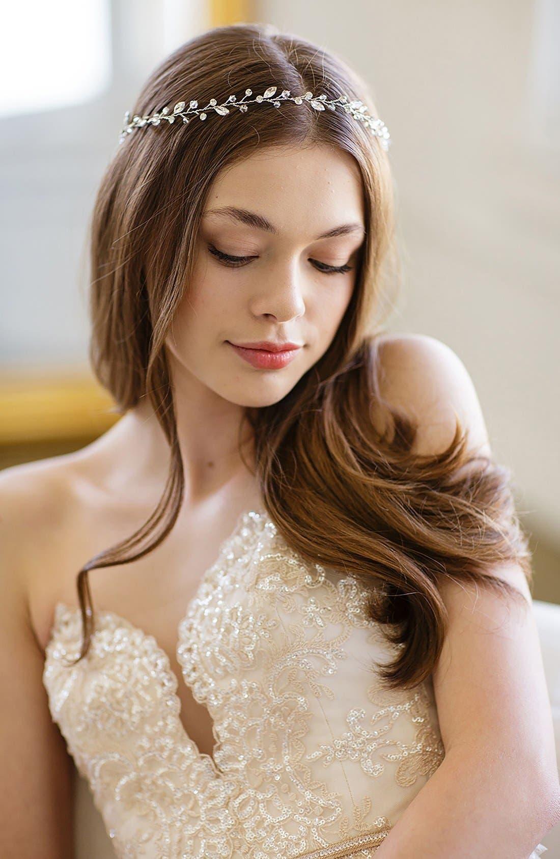 BRIDES & HAIRPINS Ariel Crystal Halo & Sash