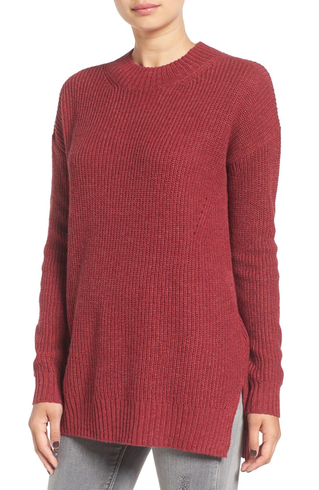 Main Image - BP. Ribbed Mock Neck Pullover