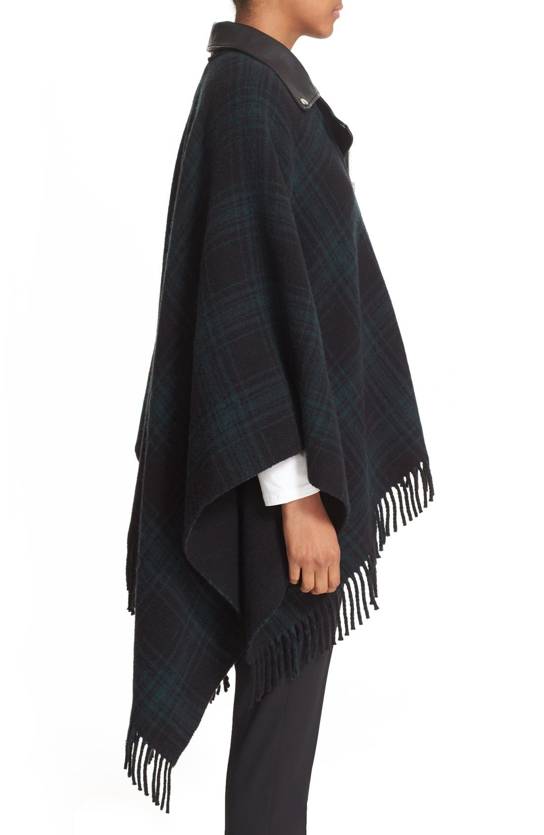 Alternate Image 3  - The Kooples Leather Collar Wool Blend Poncho