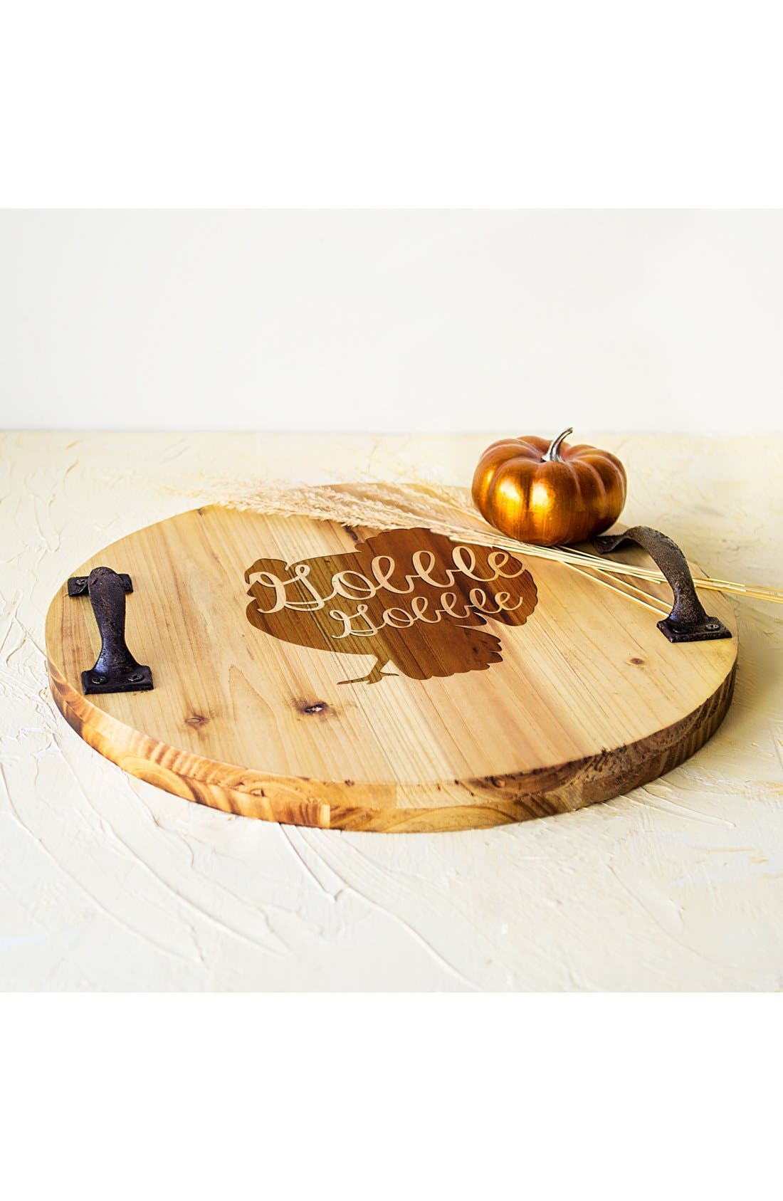 'Turkey' Rustic Wooden Tray,                             Alternate thumbnail 3, color,                             Brown