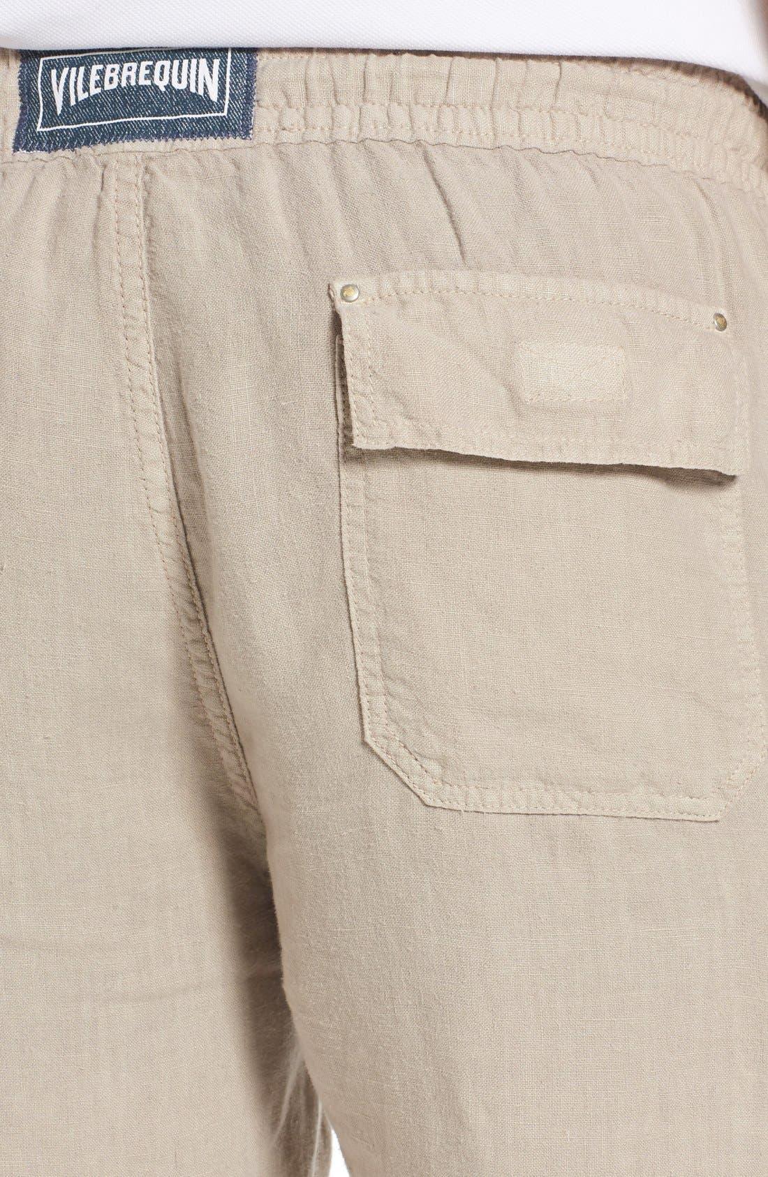 Vilbrequin Linen Cargo Shorts,                             Alternate thumbnail 4, color,                             Jute