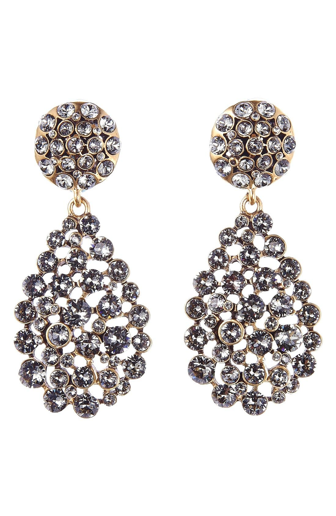 Oscar de la Renta Teardrop Earrings