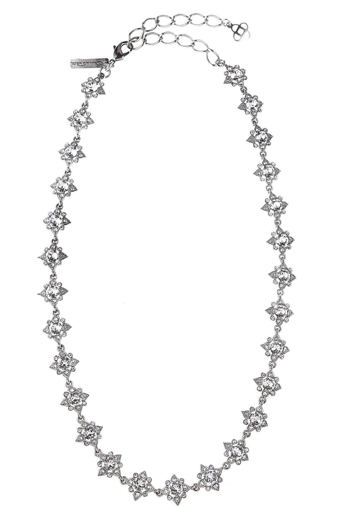 OSCAR DE LA RENTA Delicate Star Swarovski Crystal Collar Necklace