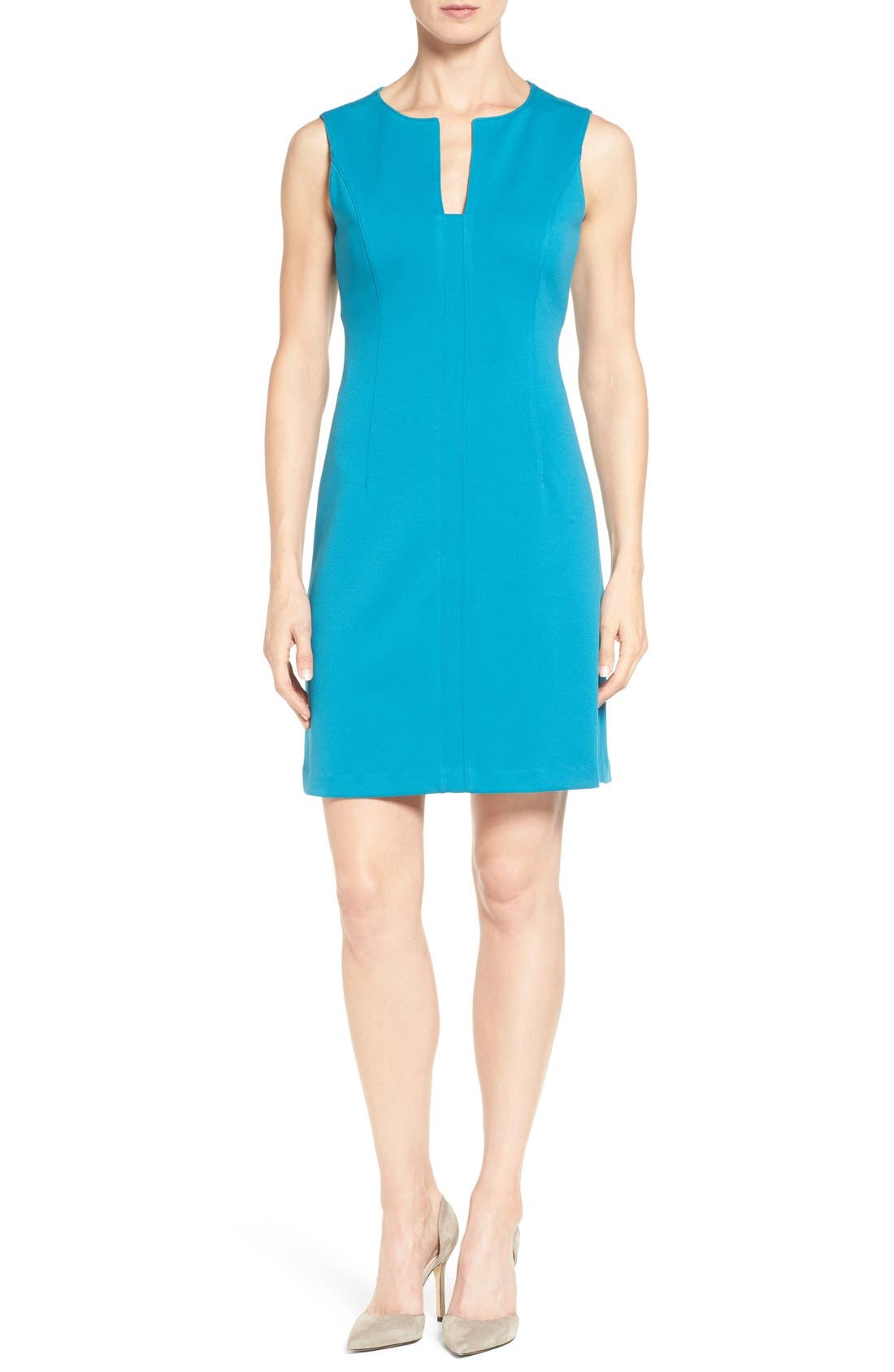 Catherine Catherine Malandrino 'Linden' Split Neck Sheath Dress