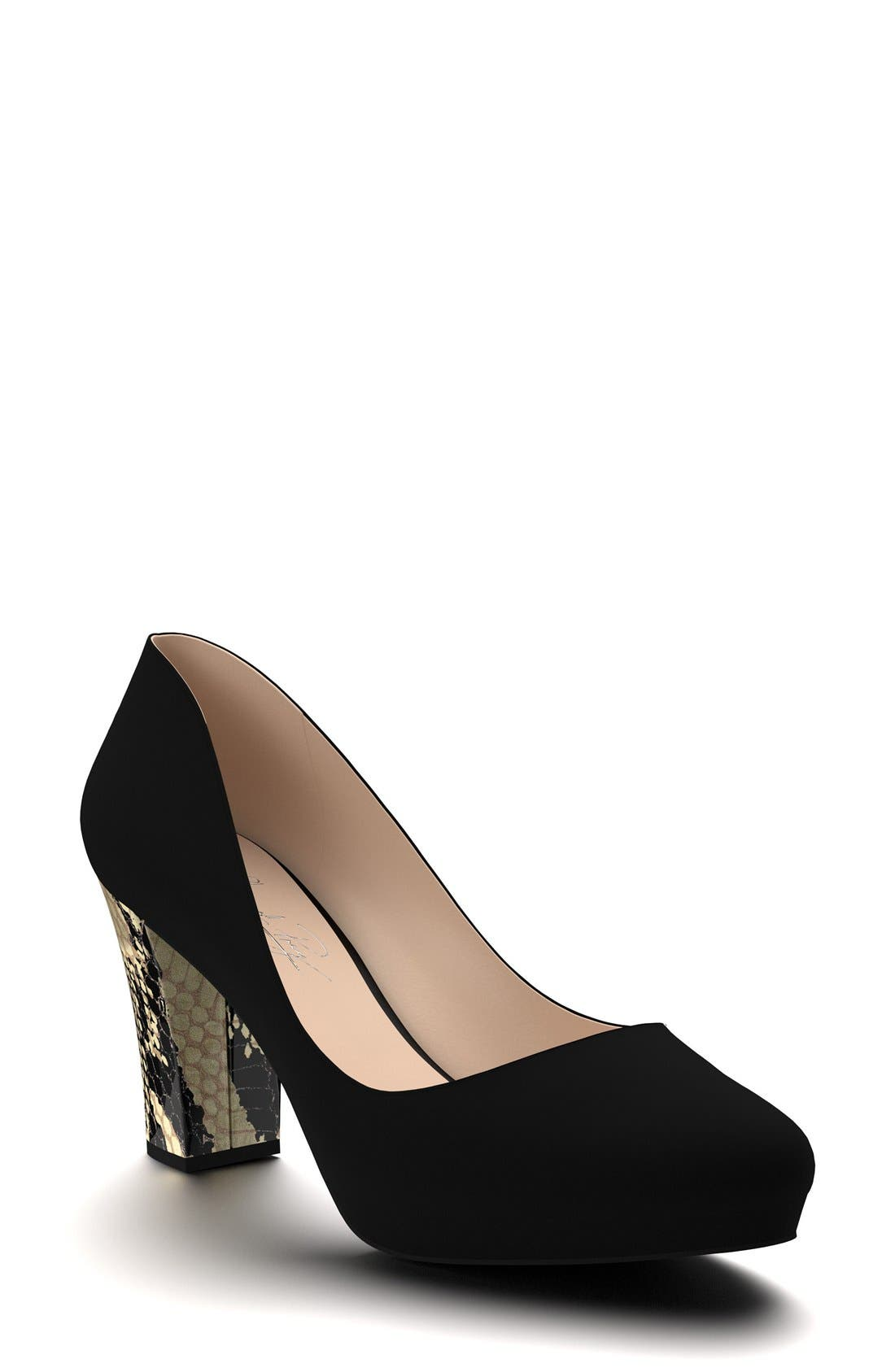Shoes of Prey Block Heel Platform Pump (Women)