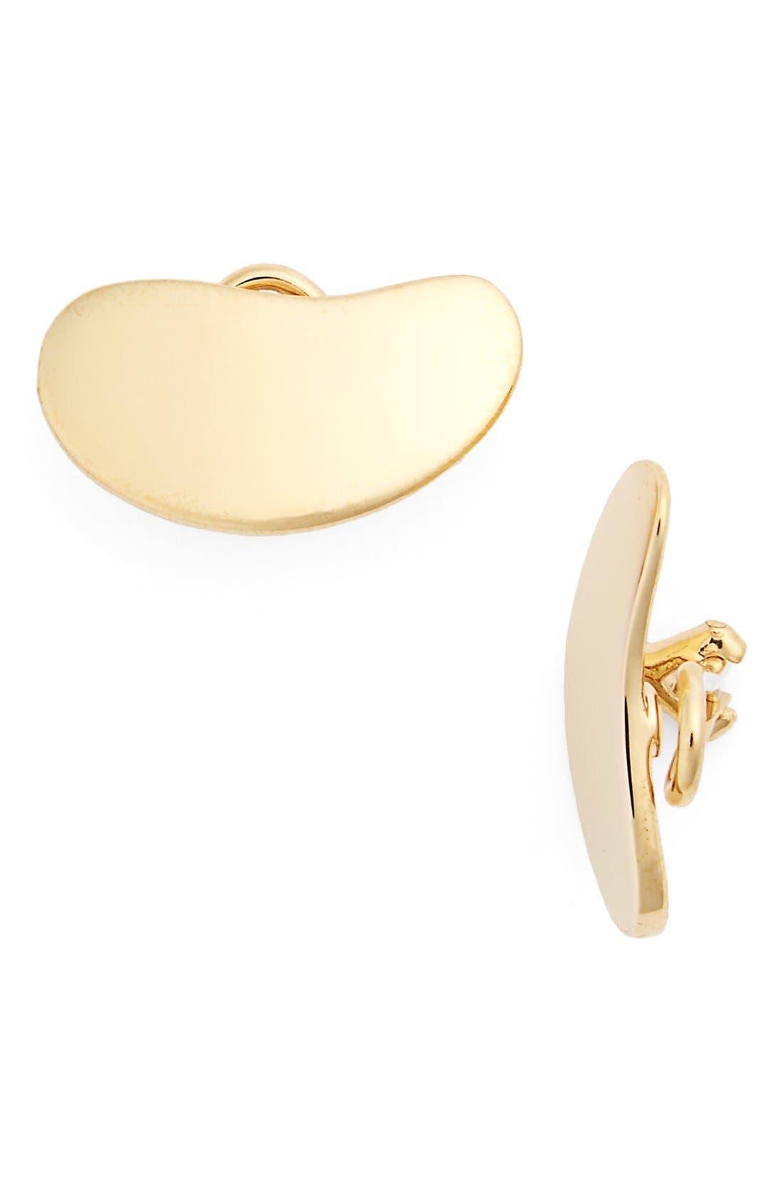 'Nues' Vermeil Clip Earrings,                             Main thumbnail 1, color,                             Vermeil