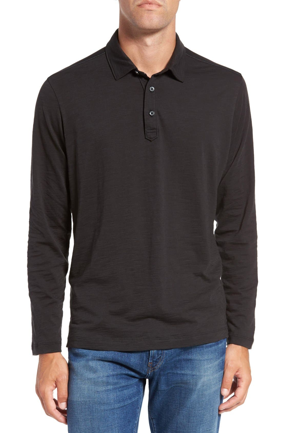 Main Image - Tommy Bahama 'Portside Player Spectator' Long Sleeve Jersey Polo