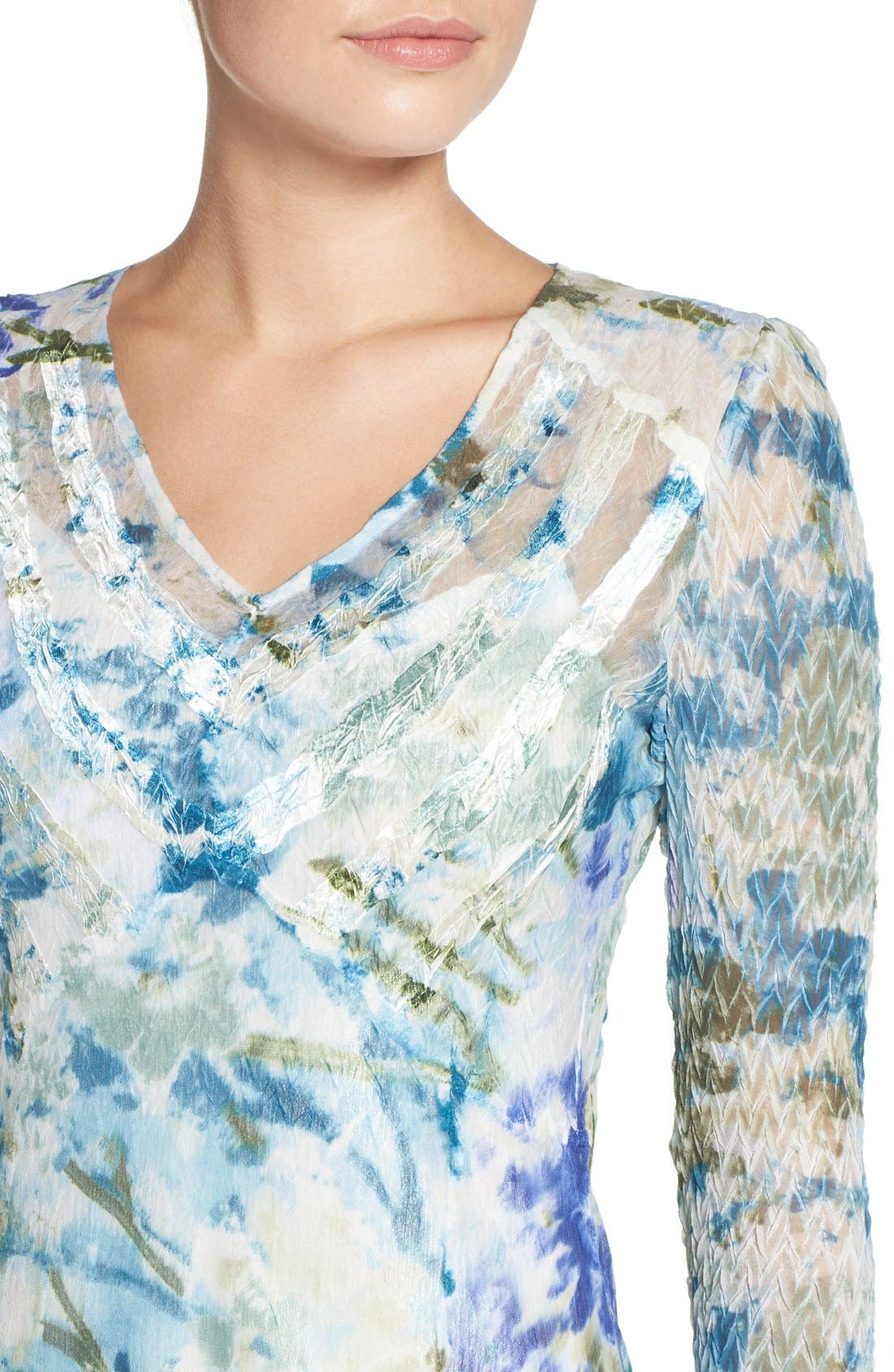 Chiffon A-Line Dress,                             Alternate thumbnail 5, color,                             Monet Dream