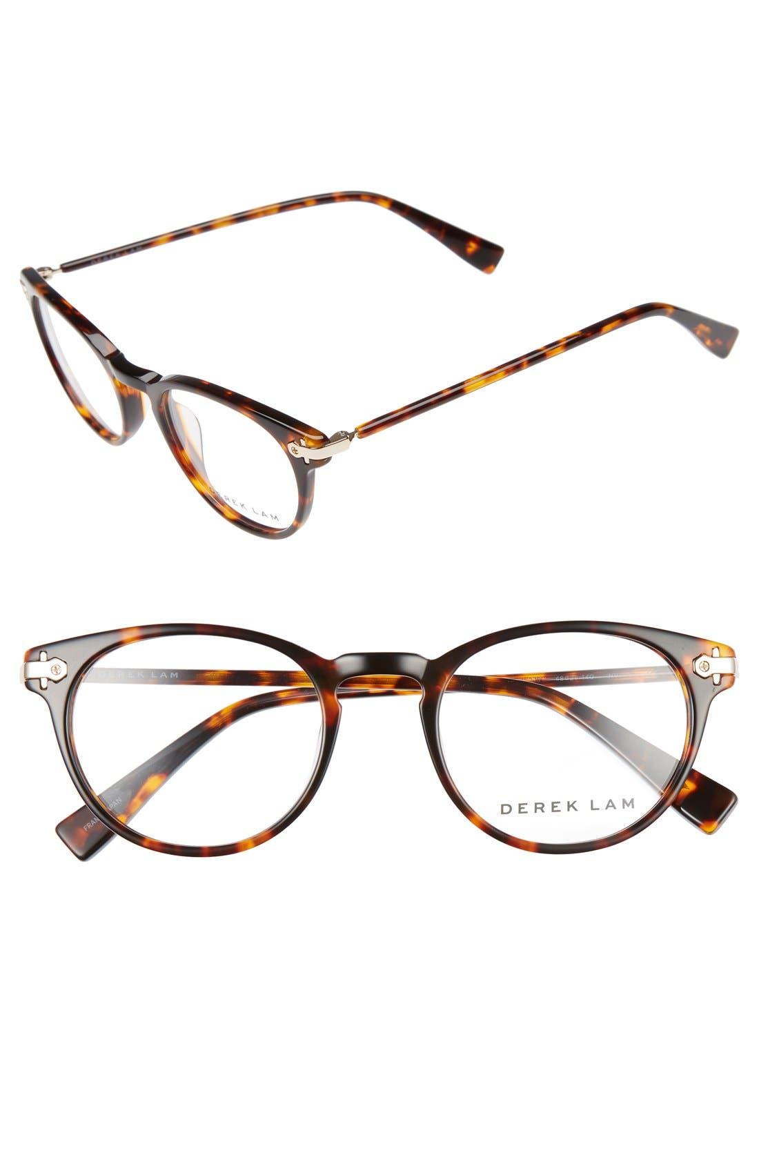 48mm Optical Glasses,                             Main thumbnail 1, color,                             Havana Tortoise