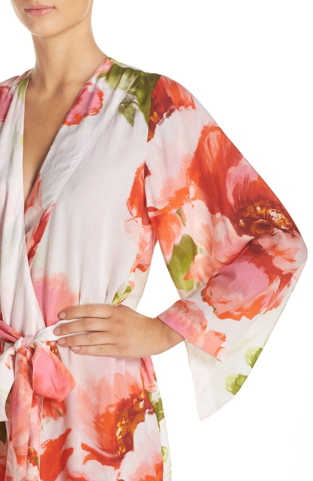 Alternate Image 4  - Plum Pretty Sugar Floral Print Kimono Robe