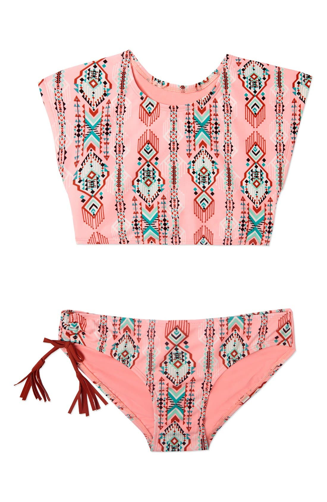 GOSSIP GIRL Desert Moon Lace-Up Two-Piece Swimsuit