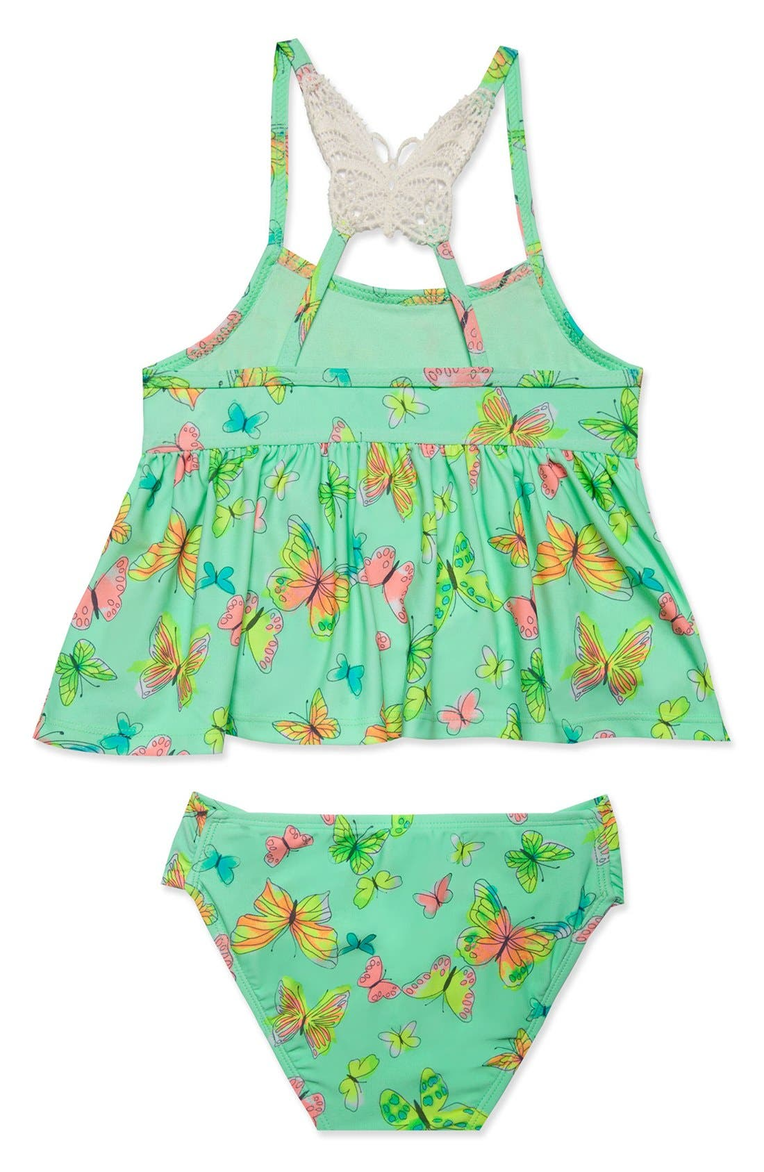 Alternate Image 2  - Hula Star 'Butterfly' Two-Piece Tankini Swimsuit (Toddler Girls & Little Girls)