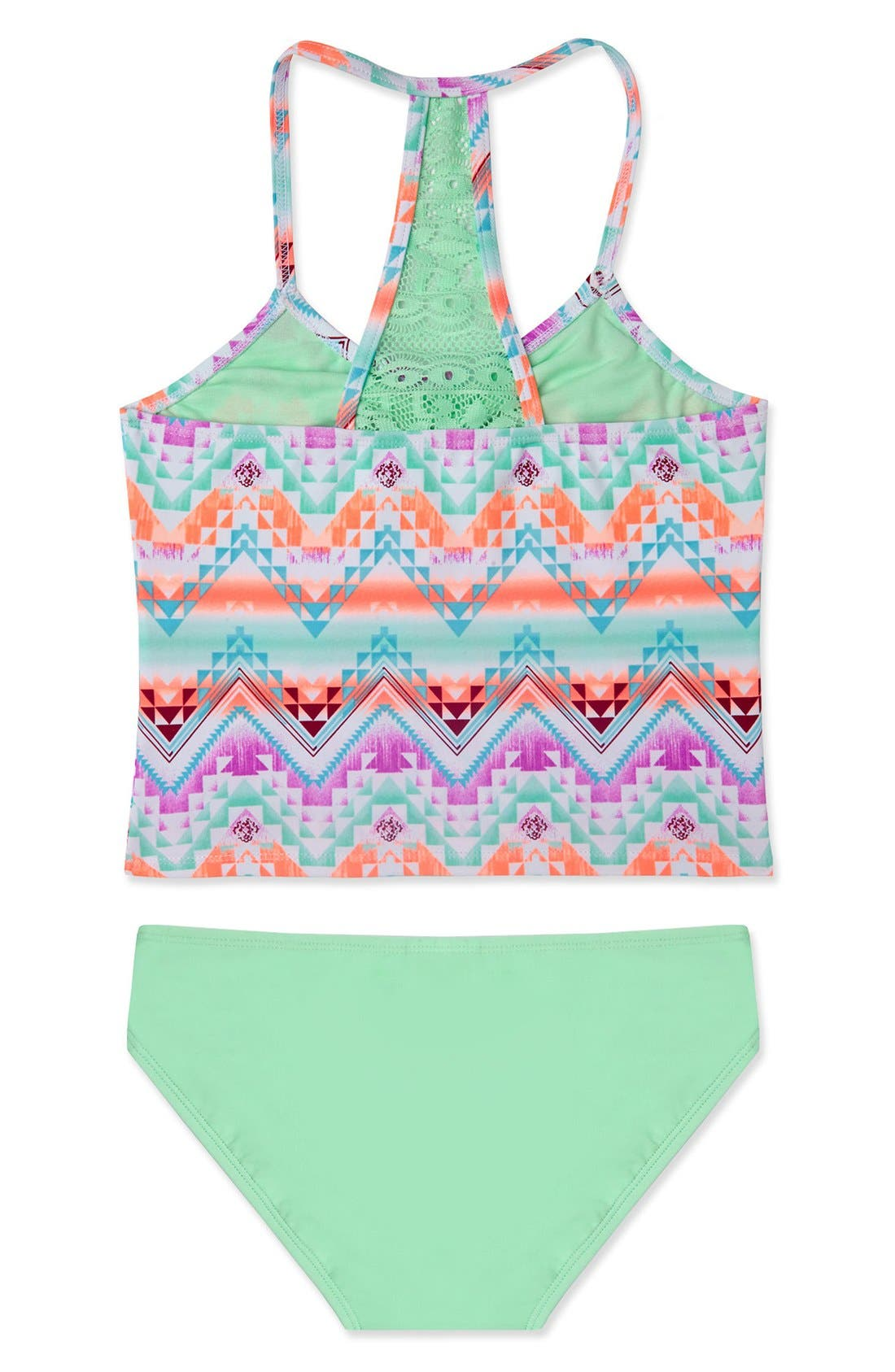 Alternate Image 2  - Gossip Girl 'Desert Mirage' Two-Piece Swimsuit Set (Big Girls)
