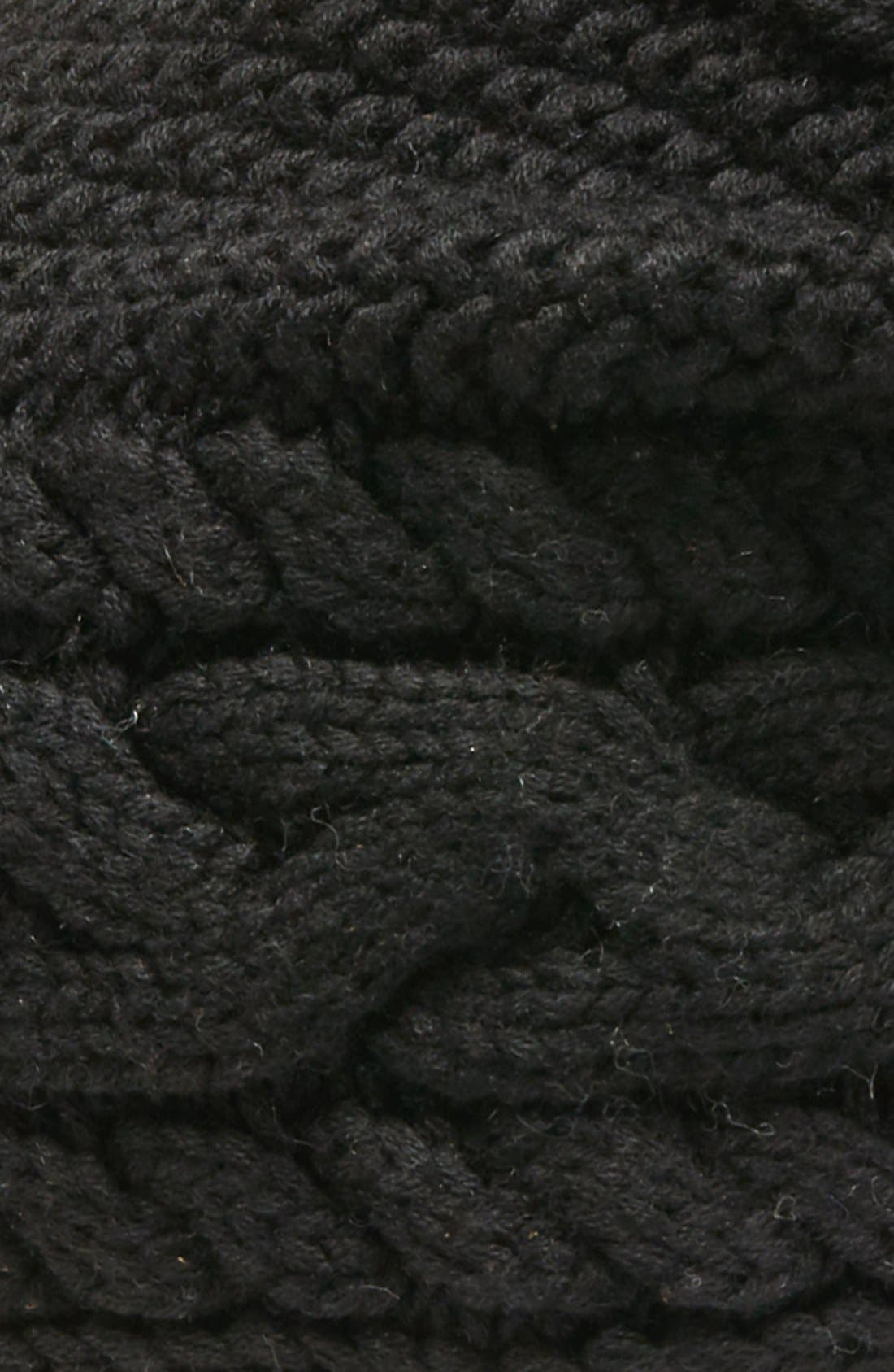 Alternate Image 2  - UGG® Cable Knit Genuine Shearling Pom Beanie