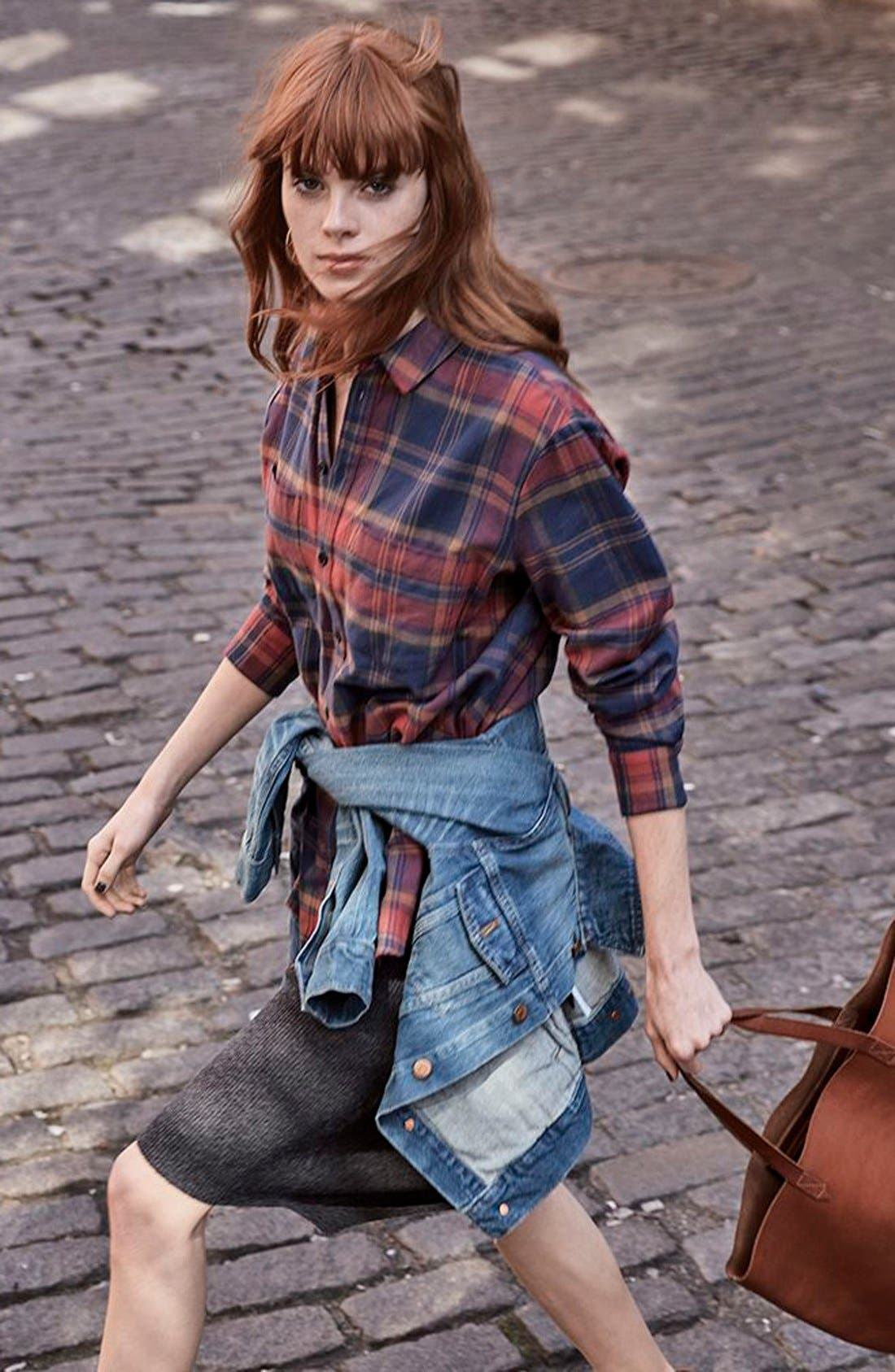 Alternate Image 6  - Madewell Ex-Boyfriend Shrunken Flannel Boyfriend Shirt