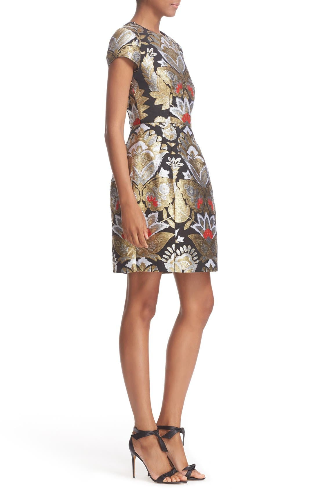 Alternate Image 3  - Ted Baker London Imoen Opulent Orient Jacquard Fit & Flare Dress