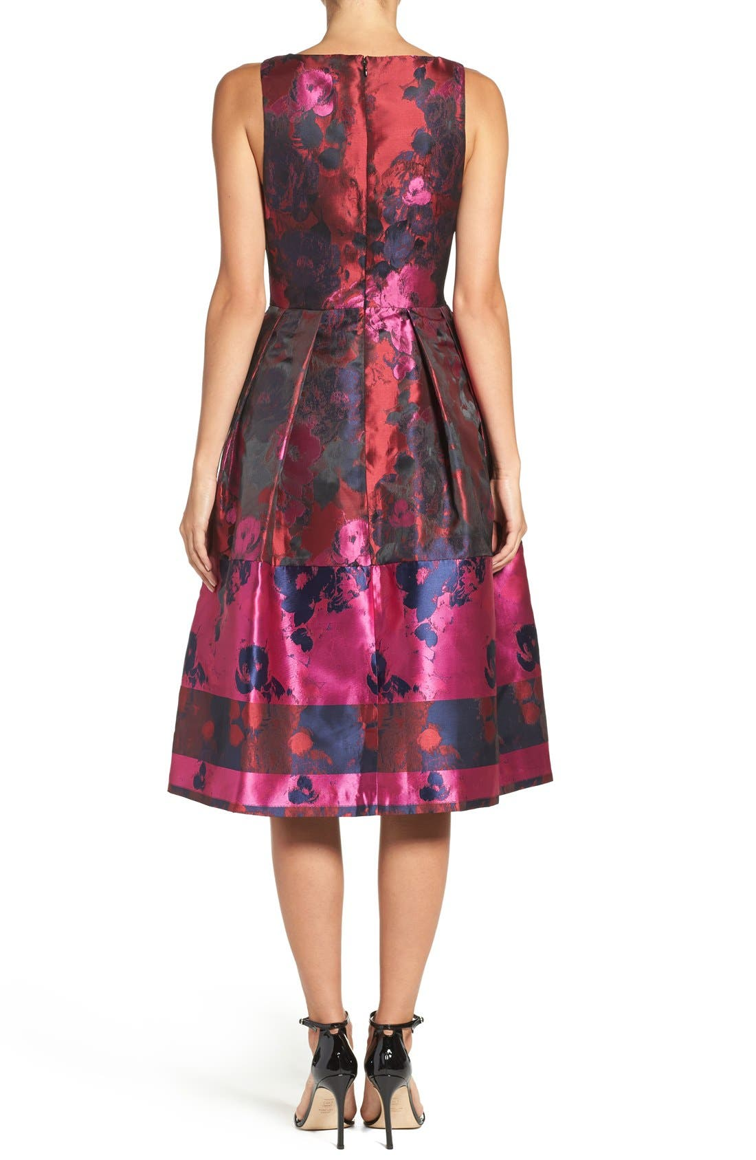 Alternate Image 2  - Ivanka Trump Floral Organza Fit & Flare Midi Dress