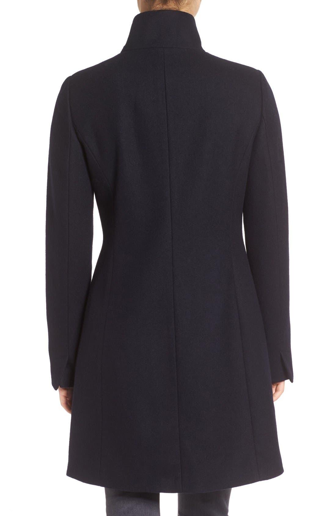 Alternate Image 2  - Tahari Kate Ruffle Wool Blend Coat
