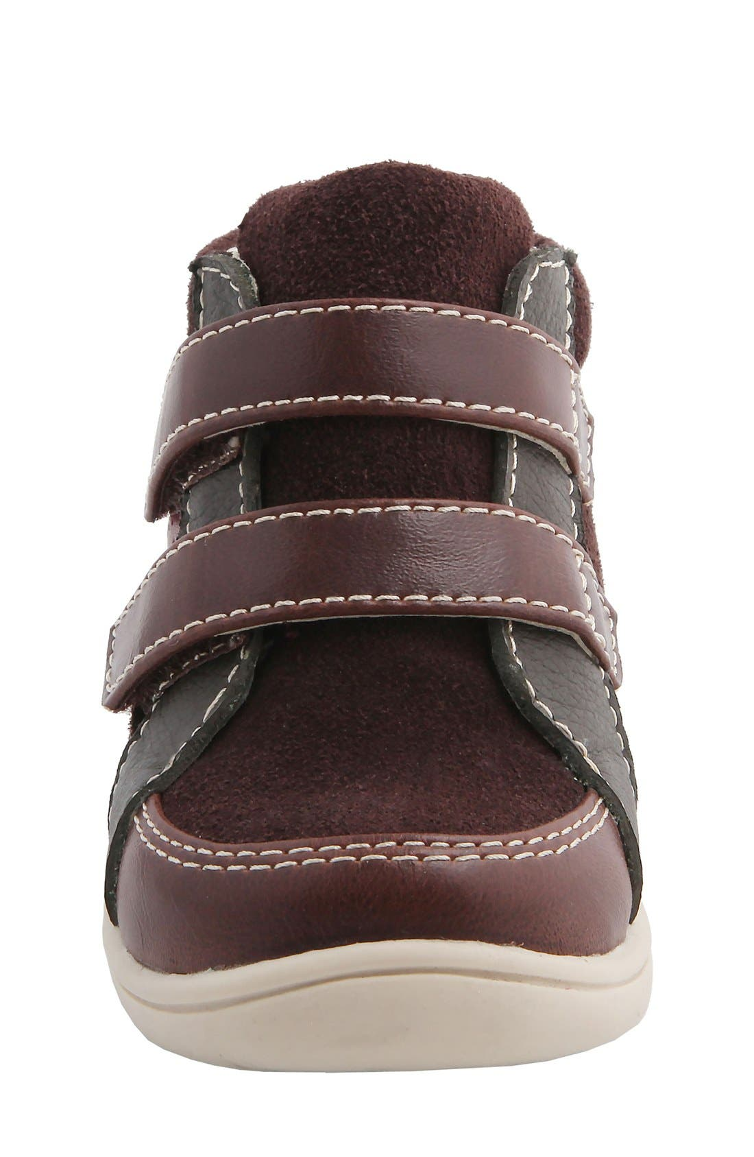 Nina 'Cairo' High Top Sneaker,                             Alternate thumbnail 5, color,                             Brown Suede