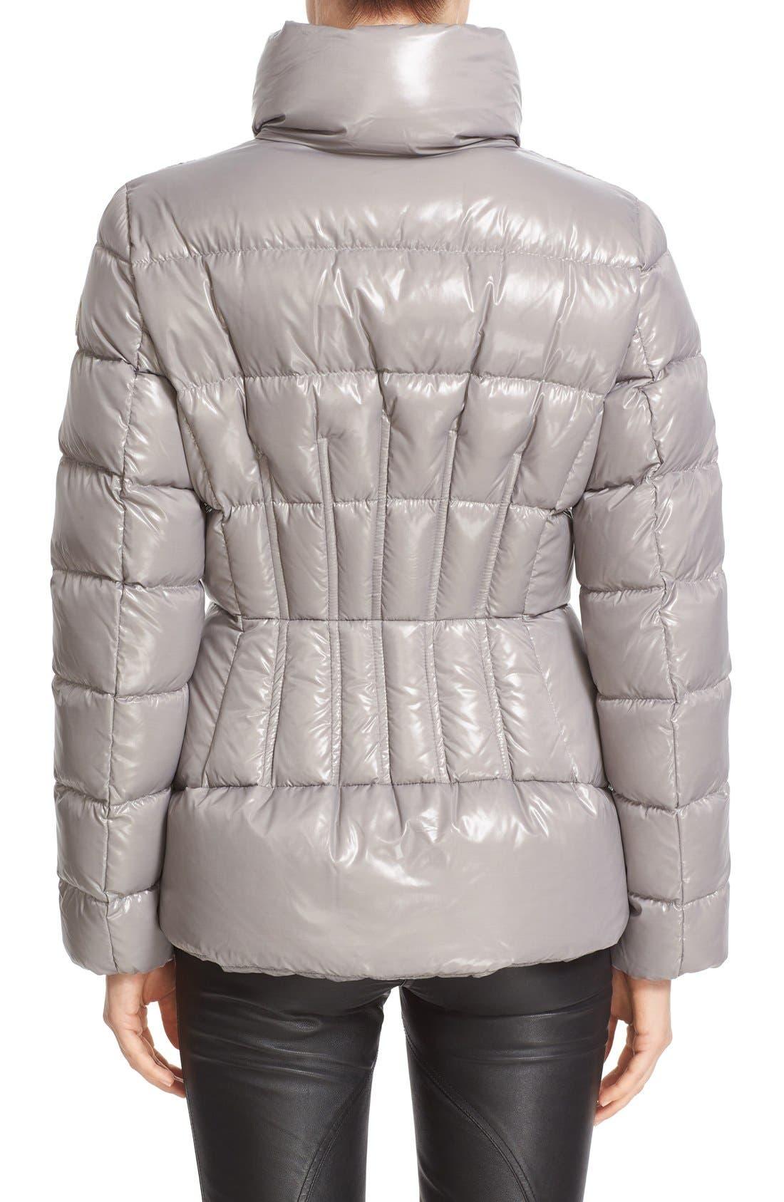 Alternate Image 2  - Moncler 'Daphne' Water Resistant Short Shiny Nylon Jacket
