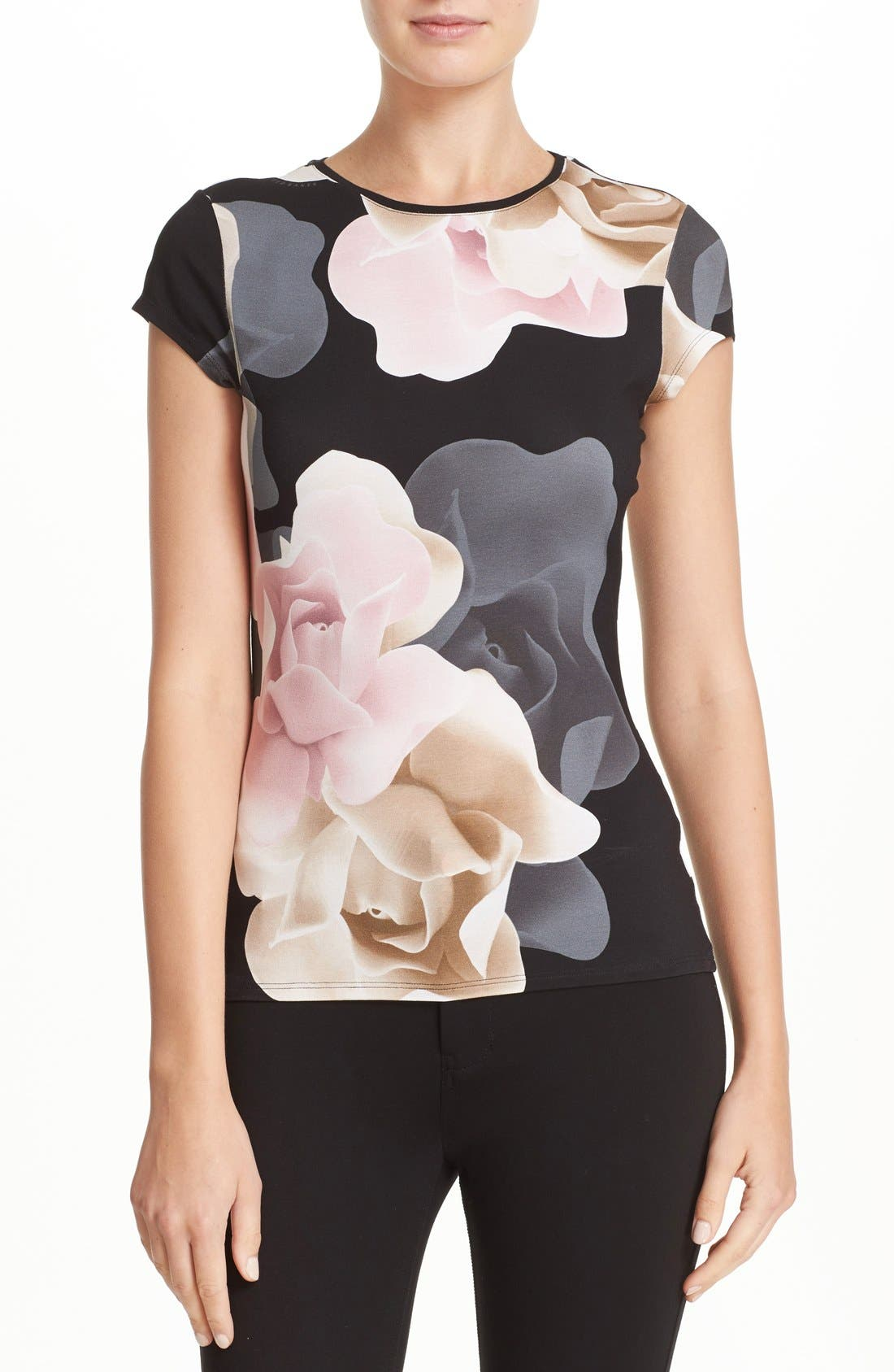 Alternate Image 1 Selected - Ted Baker London 'Tarlia - Porcelain Rose' Fitted Tee