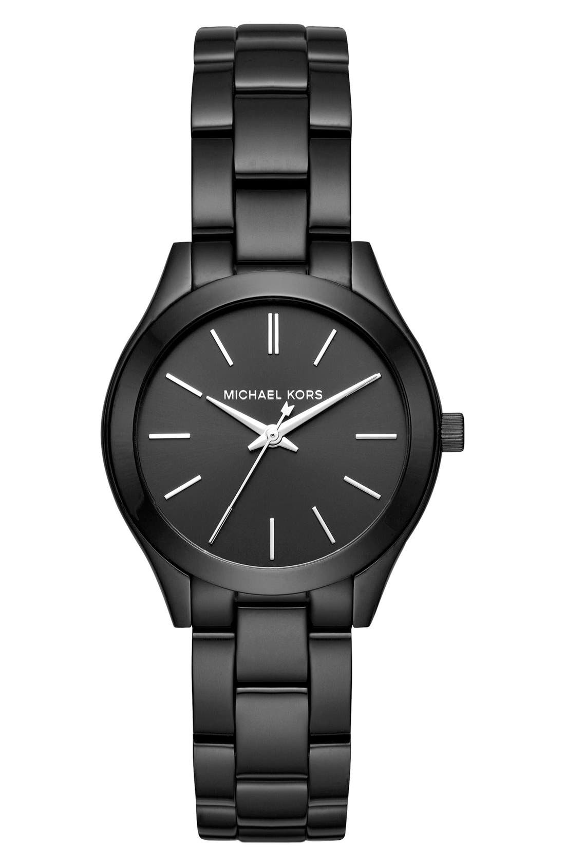 Main Image - Michael Kors 'Slim Runway' Bracelet Watch, 33mm