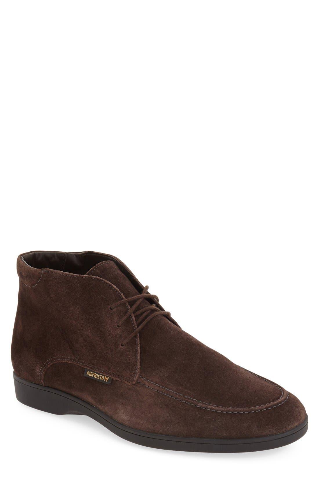 'Stelio' Chukka Boot,                         Main,                         color, Dark Brown Suede