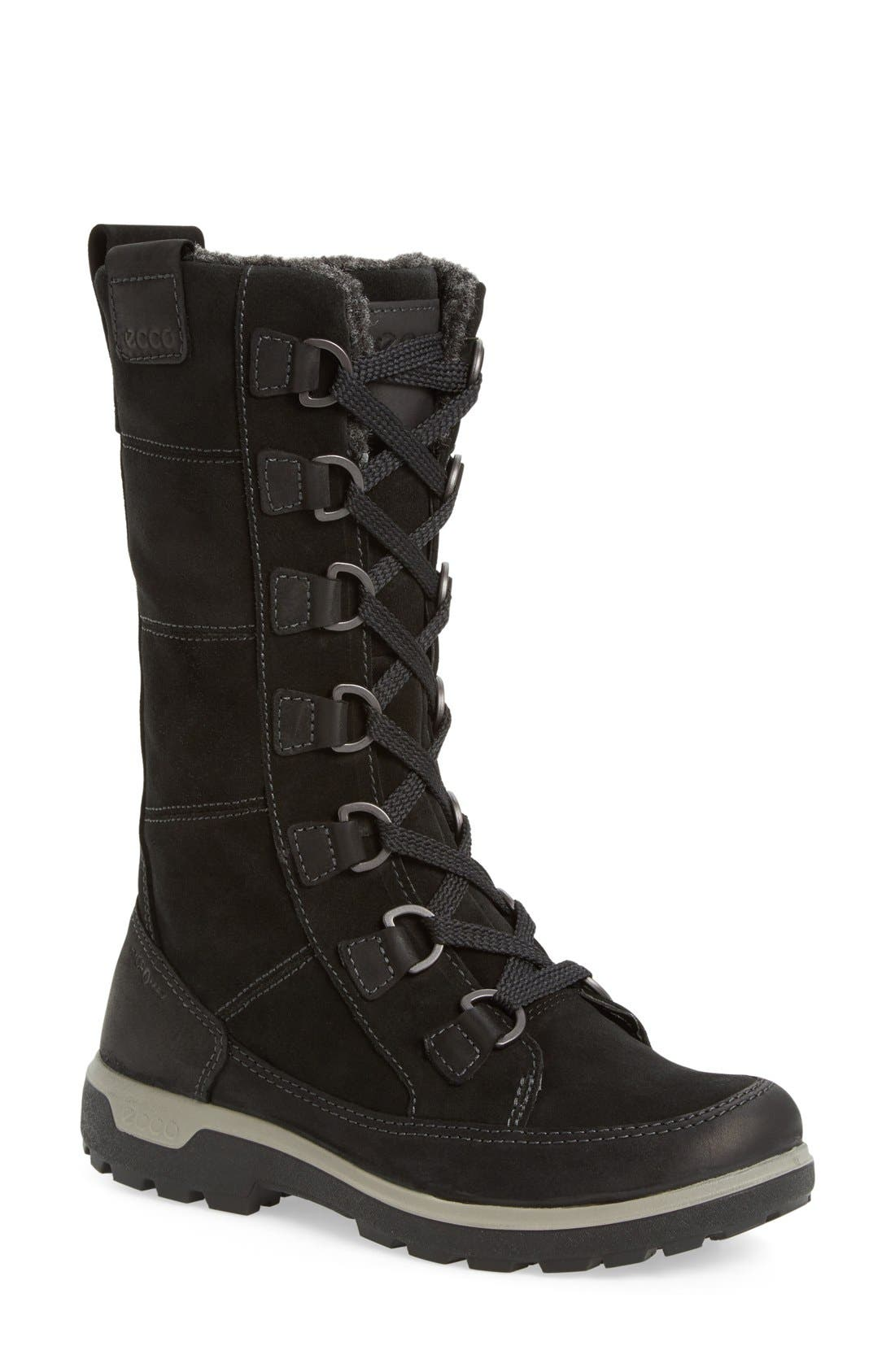 'Gora' Gore-Tex<sup>®</sup> Waterproof Lace-Up Boot,                             Main thumbnail 1, color,                             Black Oiled Nubuck Leather