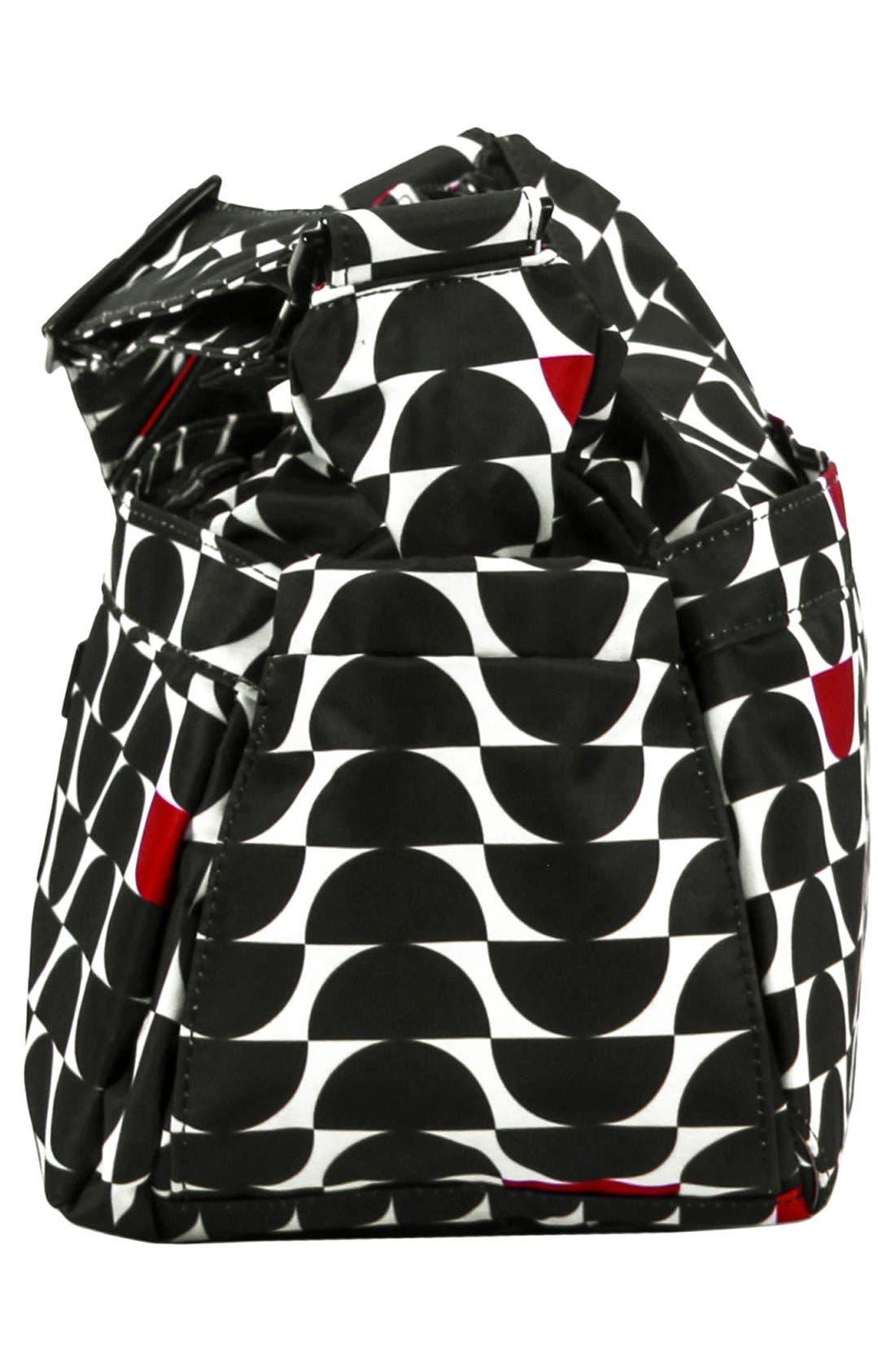 'HoboBe' Diaper Bag,                             Alternate thumbnail 5, color,                             Black Widow