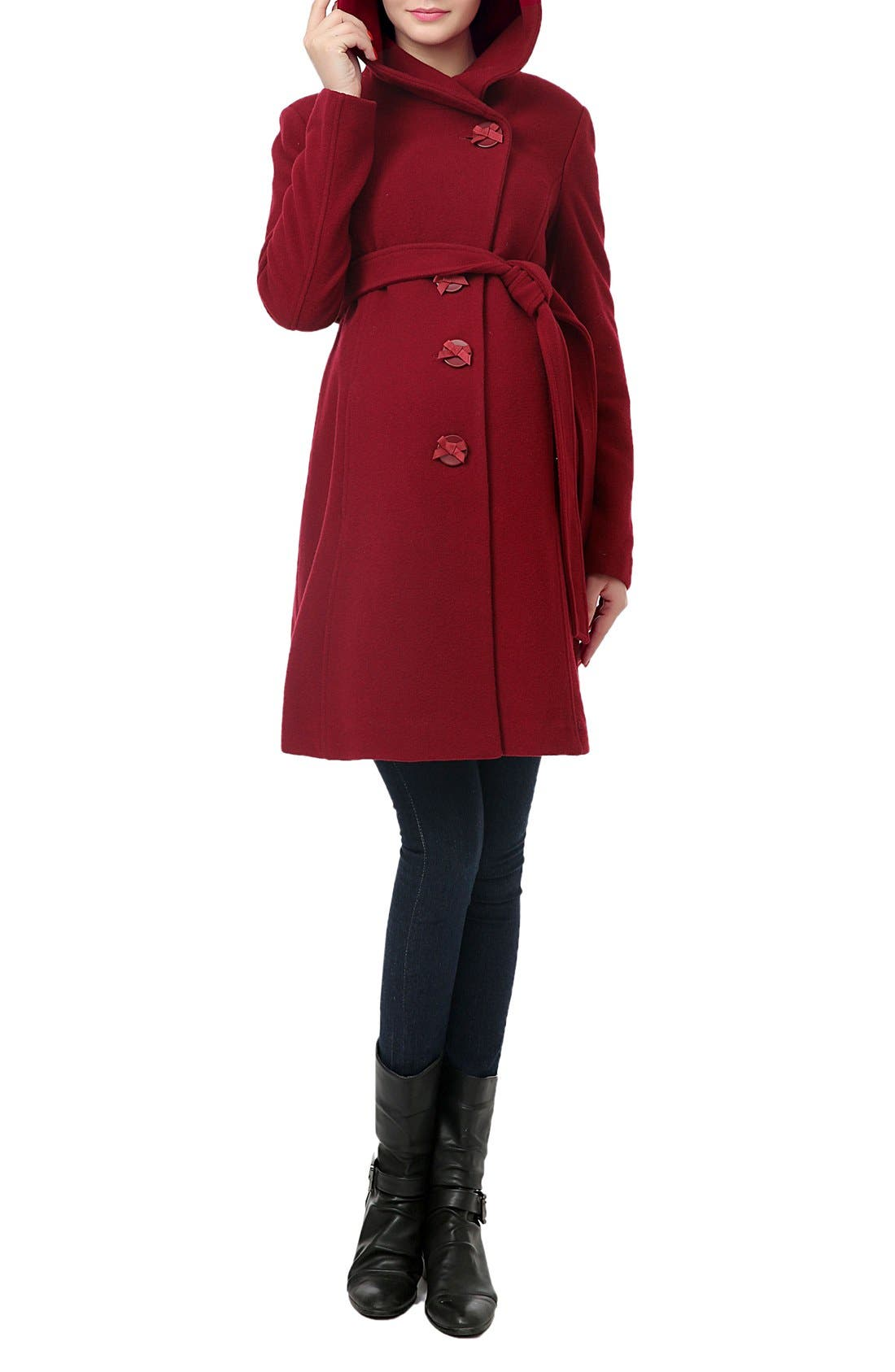 Alternate Image 3  - Kimi and Kai 'Lora' Wool Blend Maternity Coat