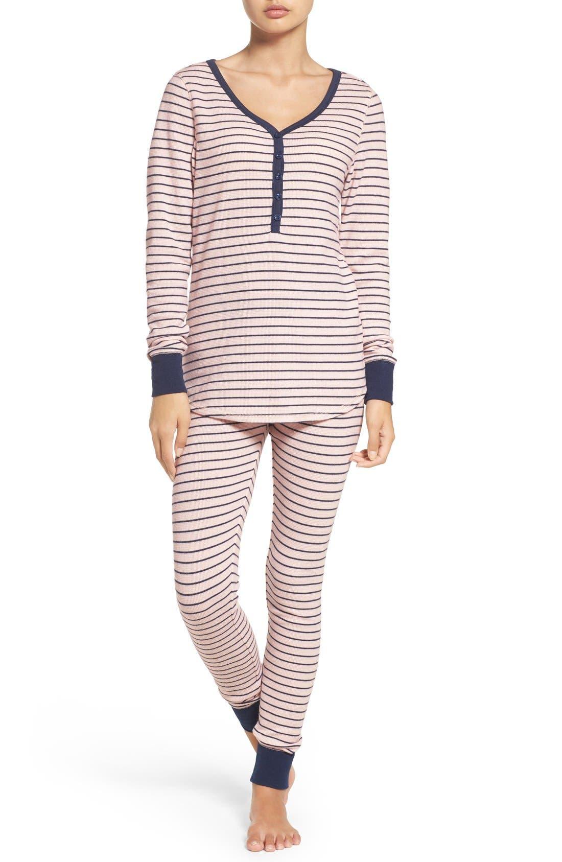 Alternate Image 1 Selected - Nordstrom Lingerie Sleepyhead Thermal Pajamas