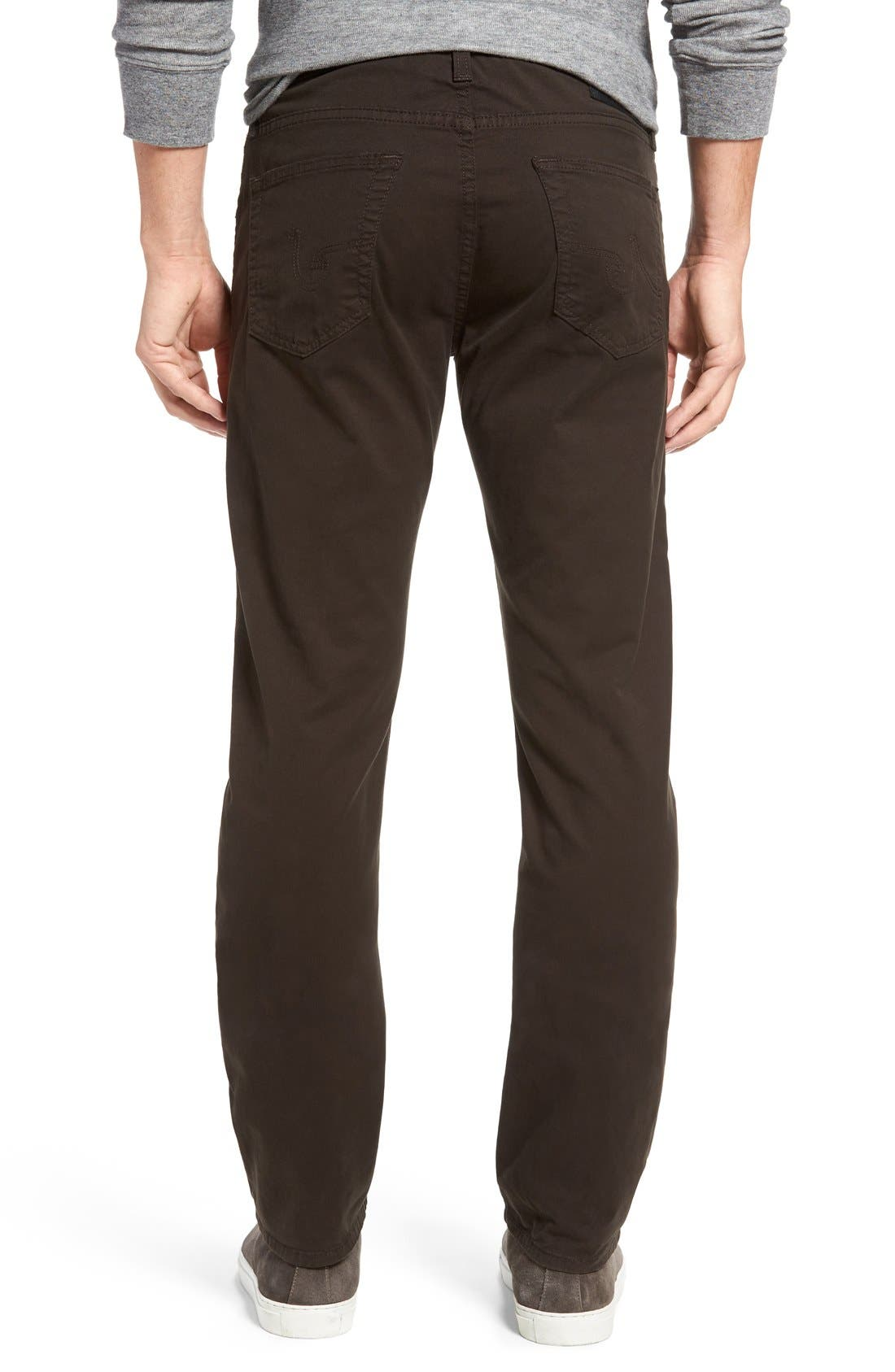 'Matchbox BES' Slim Fit Pants,                             Alternate thumbnail 4, color,                             Deep Bark