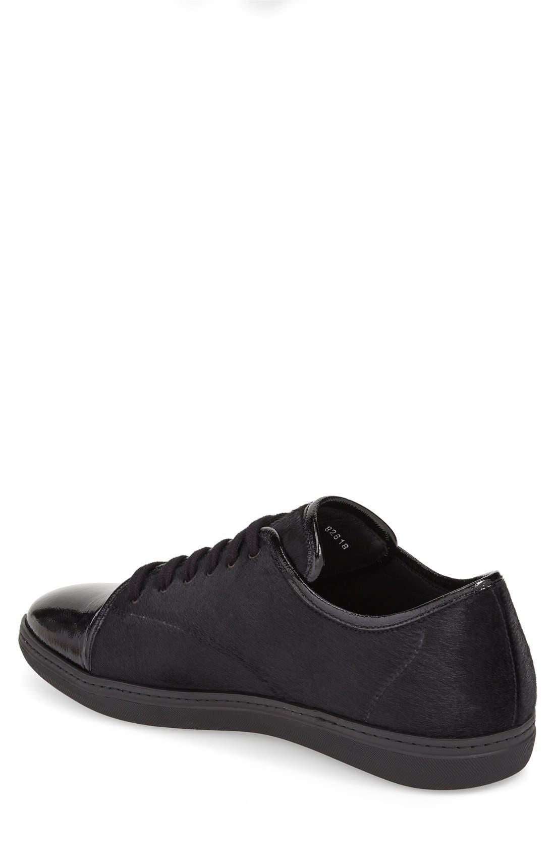 'Scala' Genuine Calf Hair Sneaker,                             Alternate thumbnail 2, color,                             Black