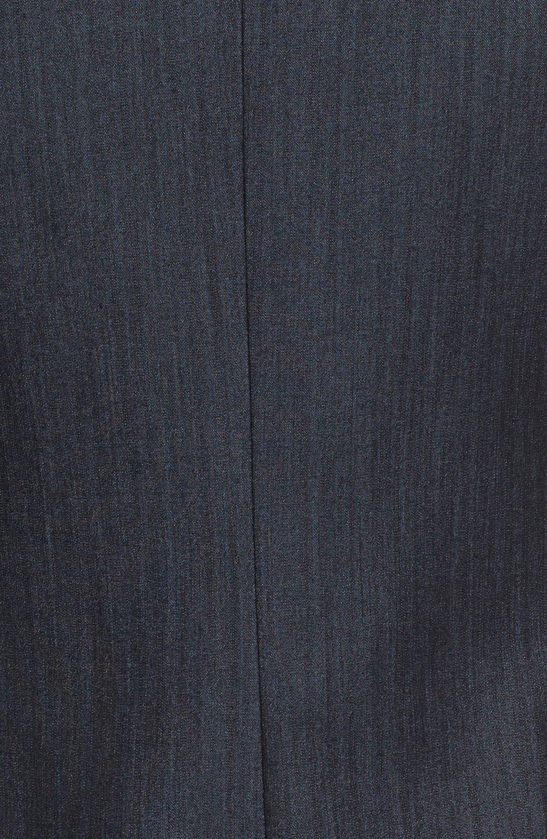 Twill One-Button Jacket,                             Alternate thumbnail 6, color,                             Indigo Twill