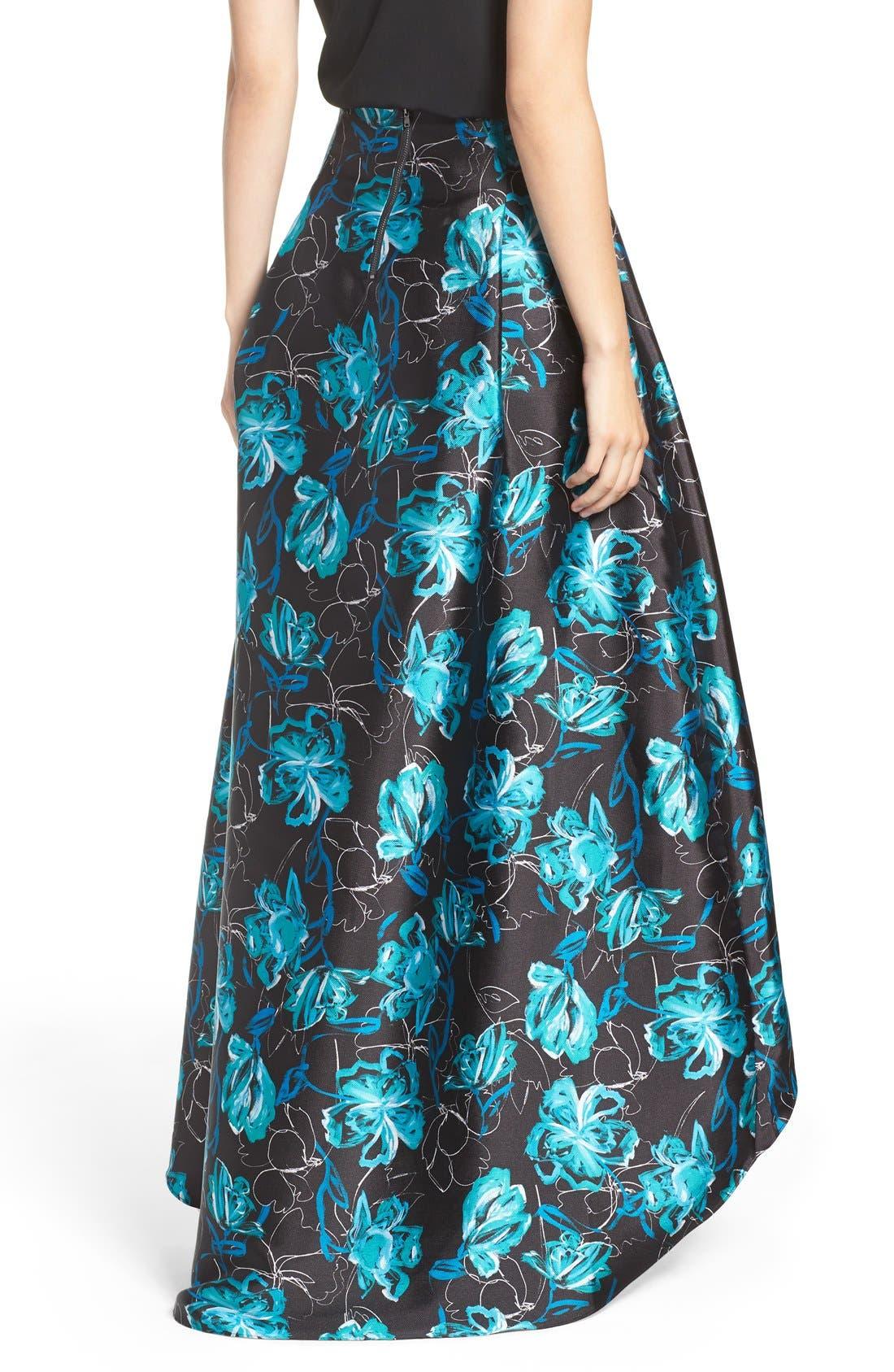 Alternate Image 2  - Sachin & Babi Noir 'Avalon' High/Low Jacquard Ball Skirt