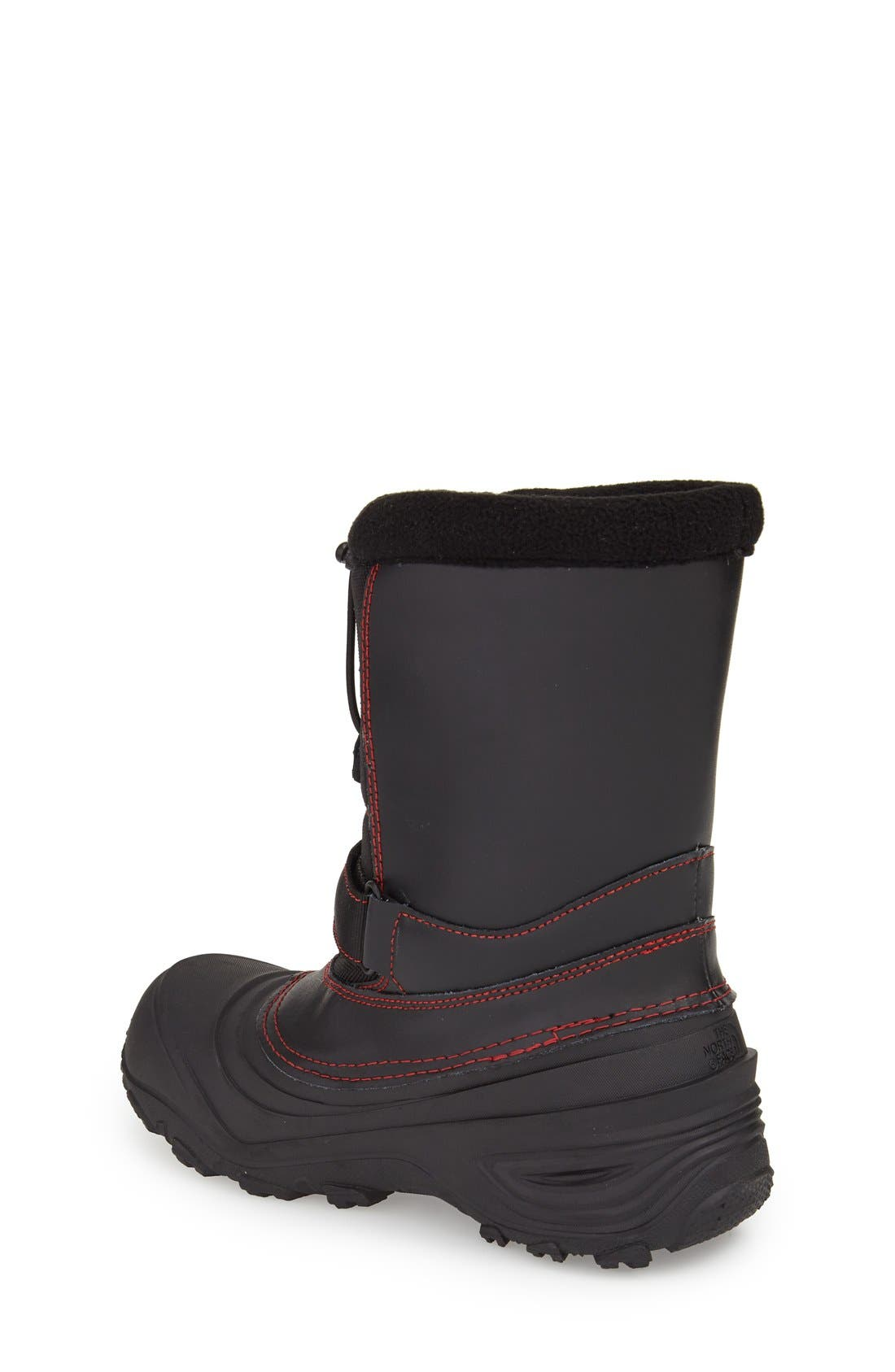 'Alpenglow Extreme II' Waterproof Snow Boot,                             Alternate thumbnail 2, color,                             Black/ Red