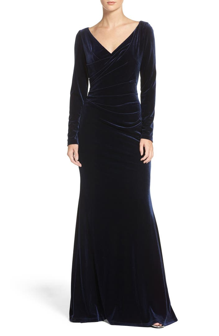 Vince camuto velvet gown regular petite nordstrom for Petite designers
