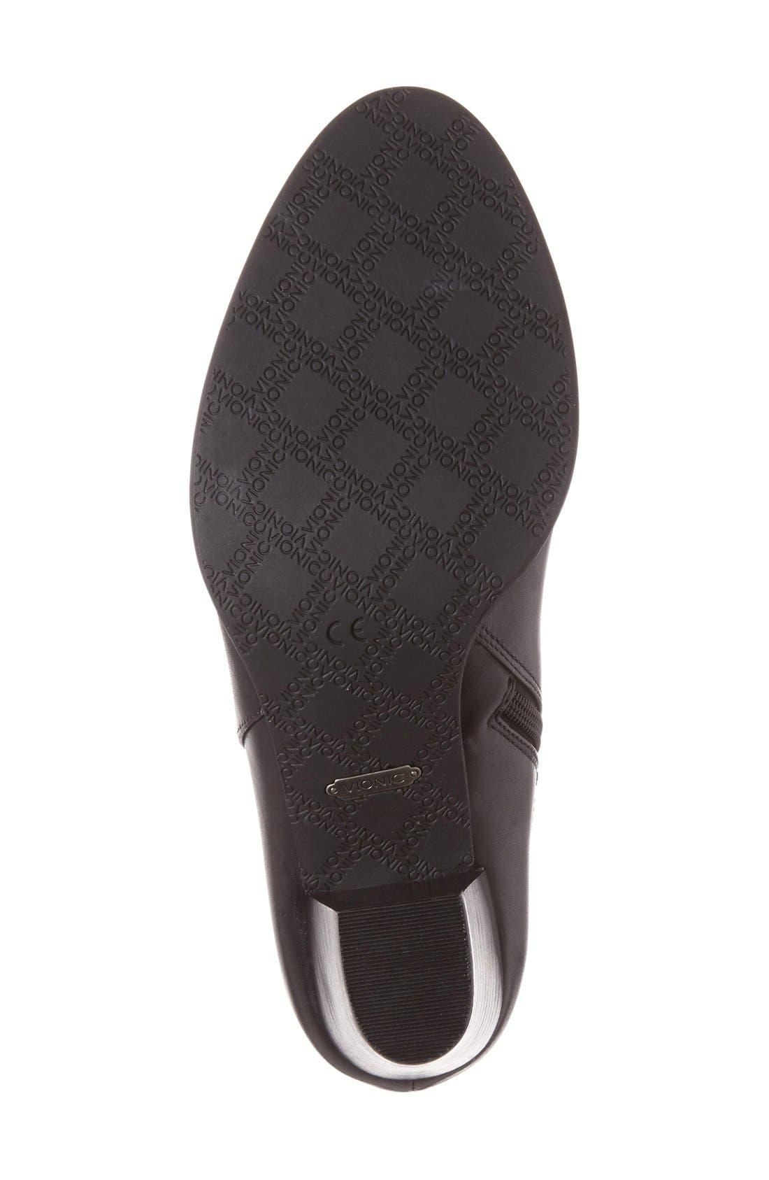 'Upton' Block Heel Boot,                             Alternate thumbnail 4, color,                             Black Leather
